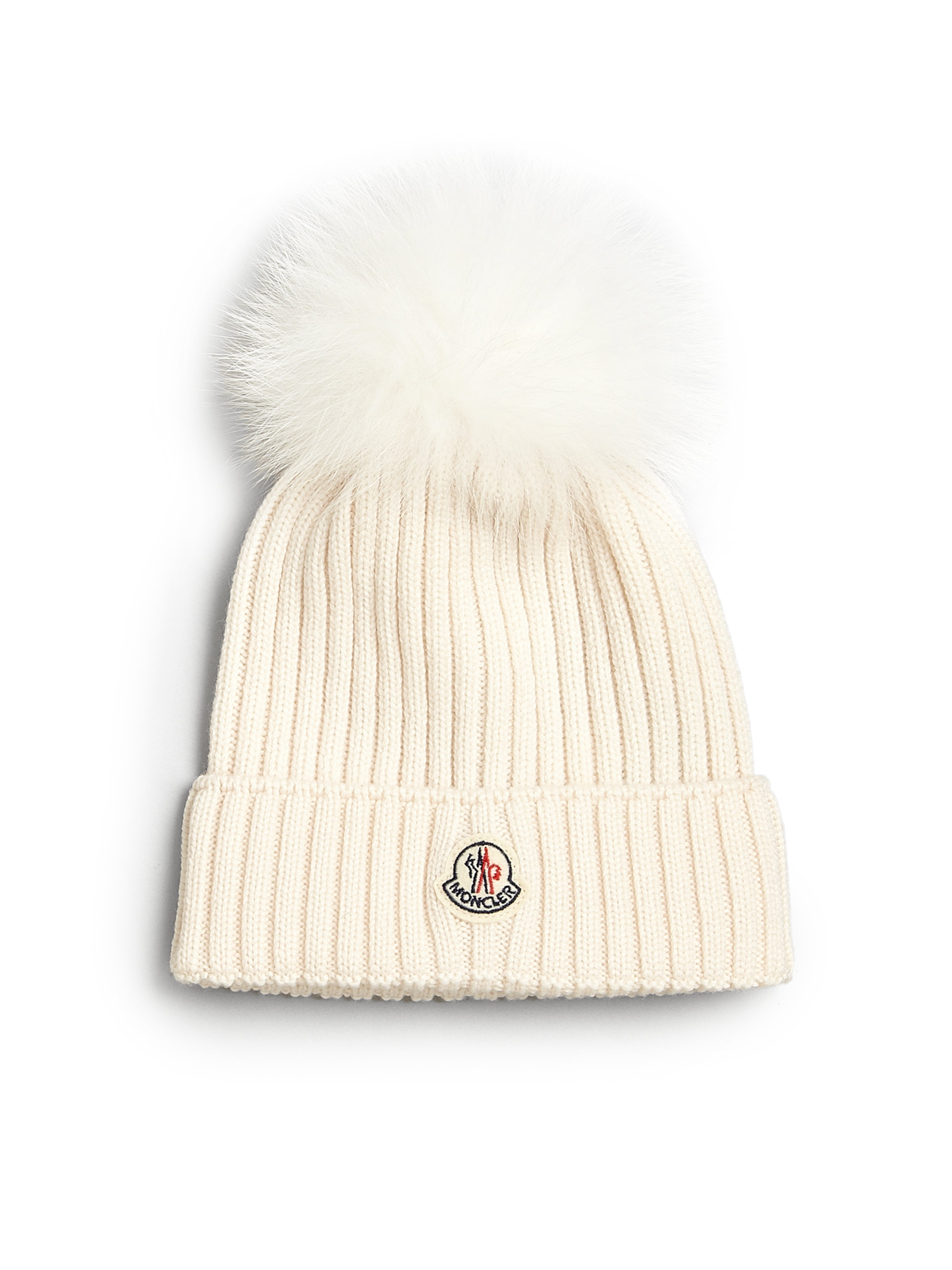 84ea482049df5 Moncler Toddlers Little Girls Fur-trimmed Wool Hat in Natural - Lyst