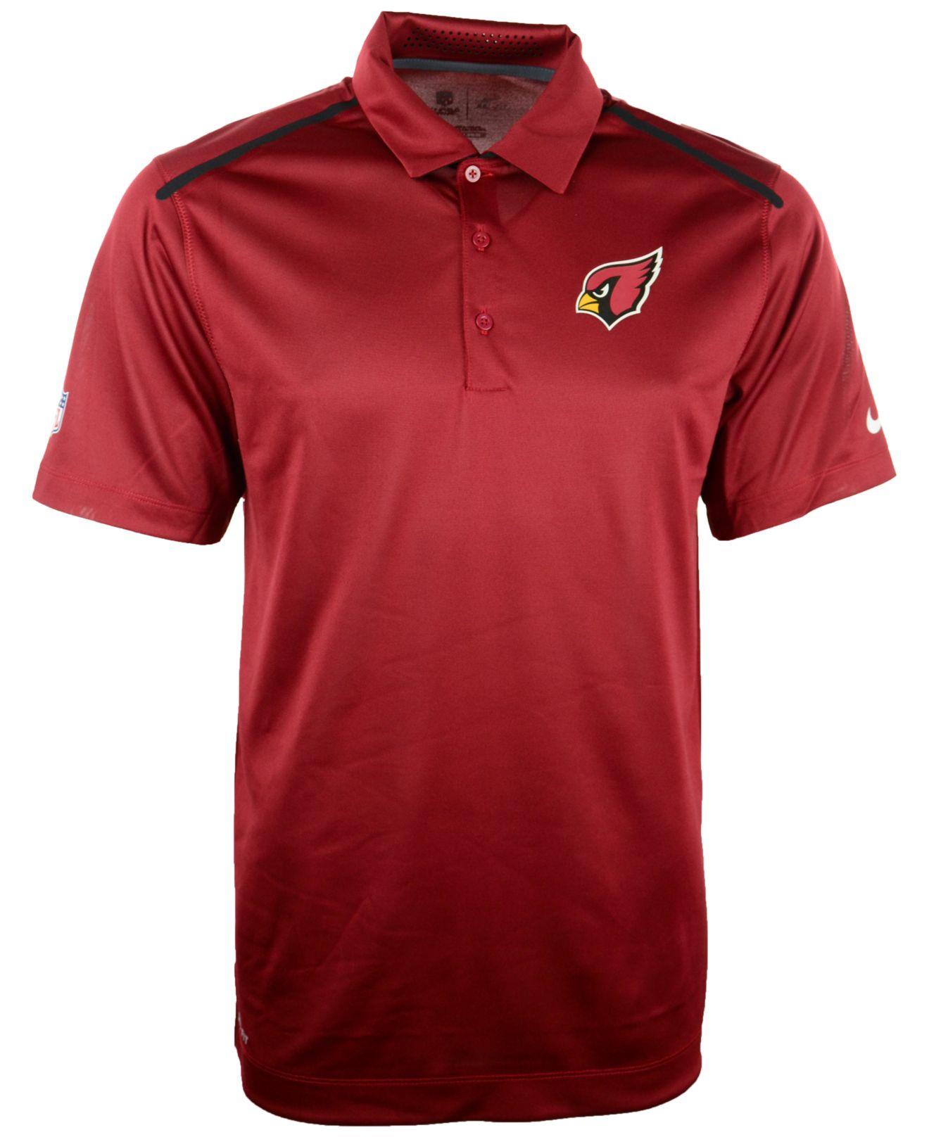 Nike Men 39 S Arizona Cardinals Dri Fit Polo In Red For Men