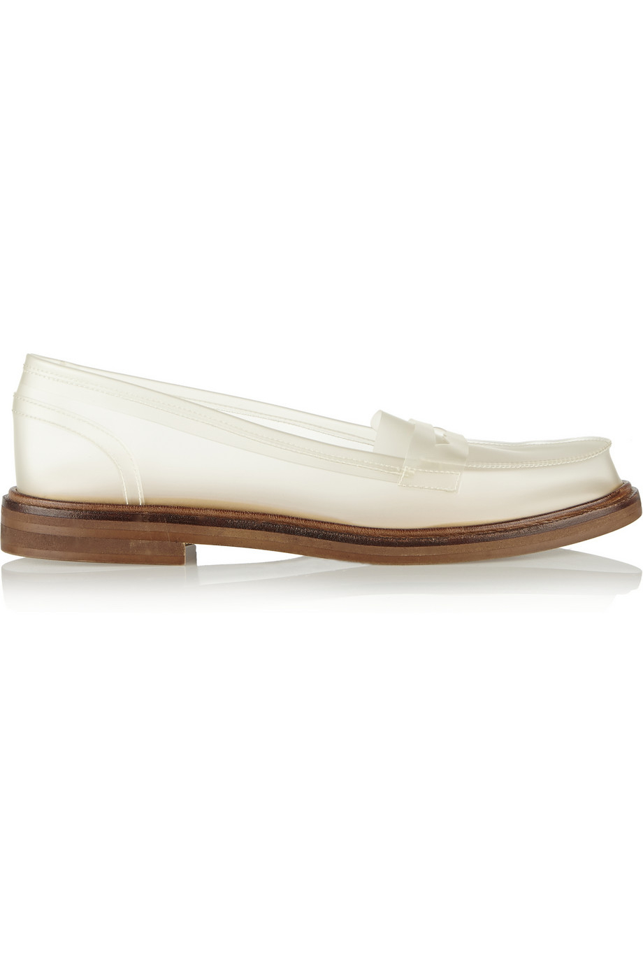 Lyst mm6 by maison martin margiela pvc moccasins for Mm6 maison margiela
