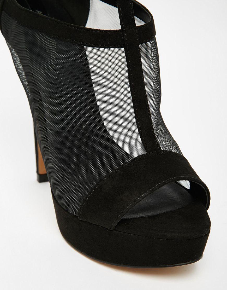 Lyst Aldo Aling Platform Mesh Heeled Sandals In Black