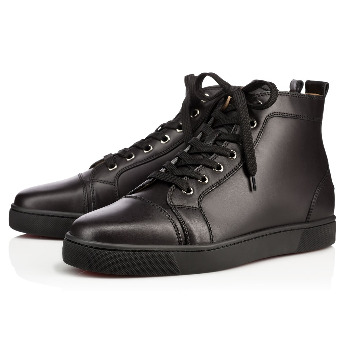 Christian Louboutin Louis Mens Flat in Black for Men (red ...