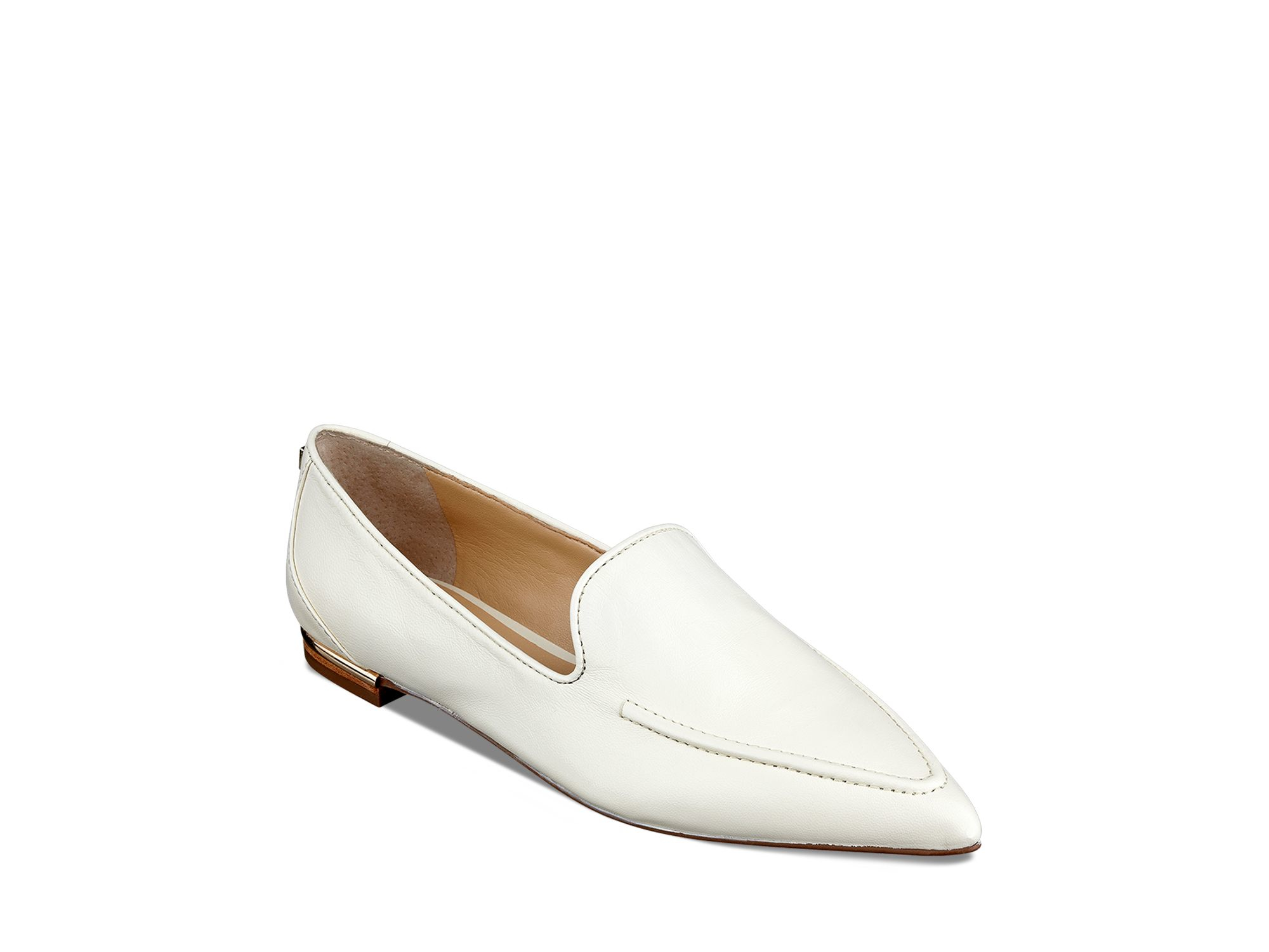 Ivanka trump Pointed Toe Plats - Zariner in White | Lyst
