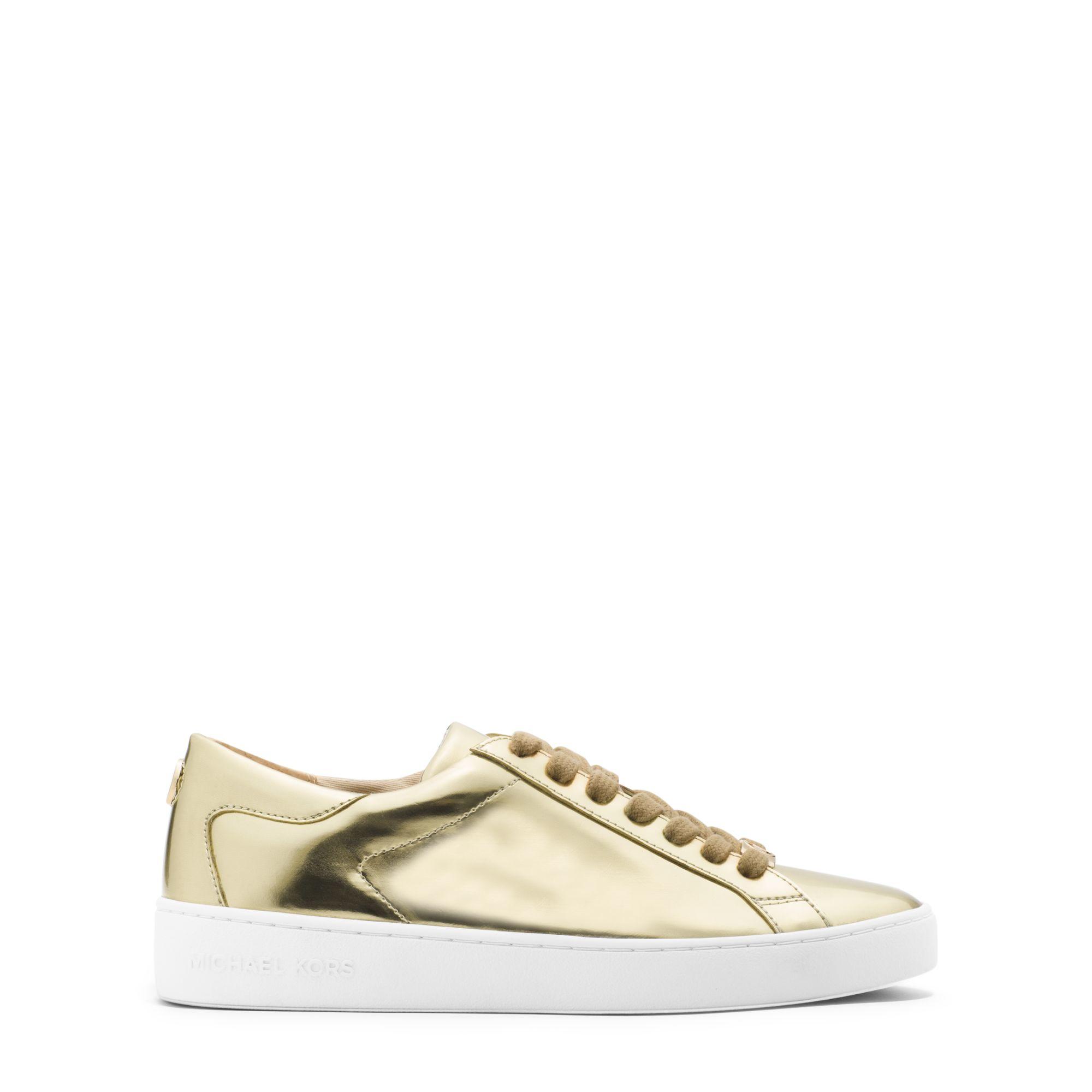 a1fa54a5f31 Michael Kors Keaton Metallic Leather Sneaker in Metallic - Lyst