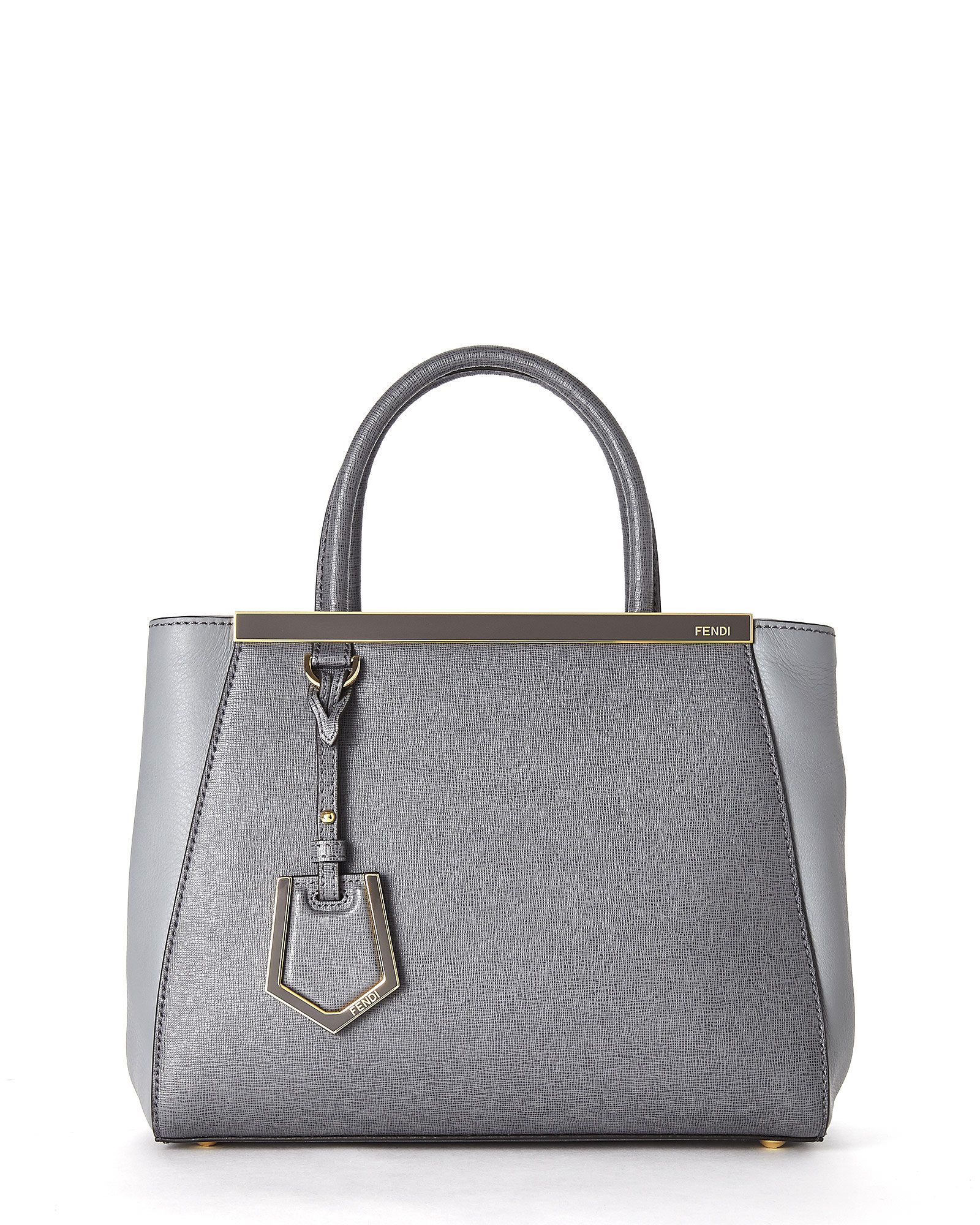 33862bfc1afe Lyst - Fendi Grey Petite 2Jours Tote in Gray