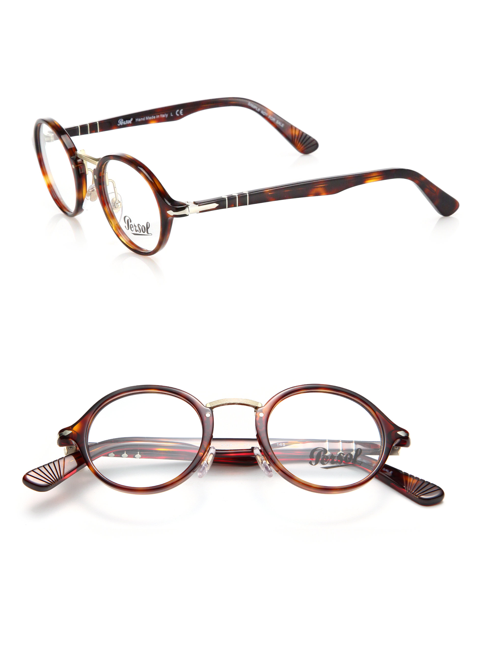 Persol Round Glasses In Brown Lyst
