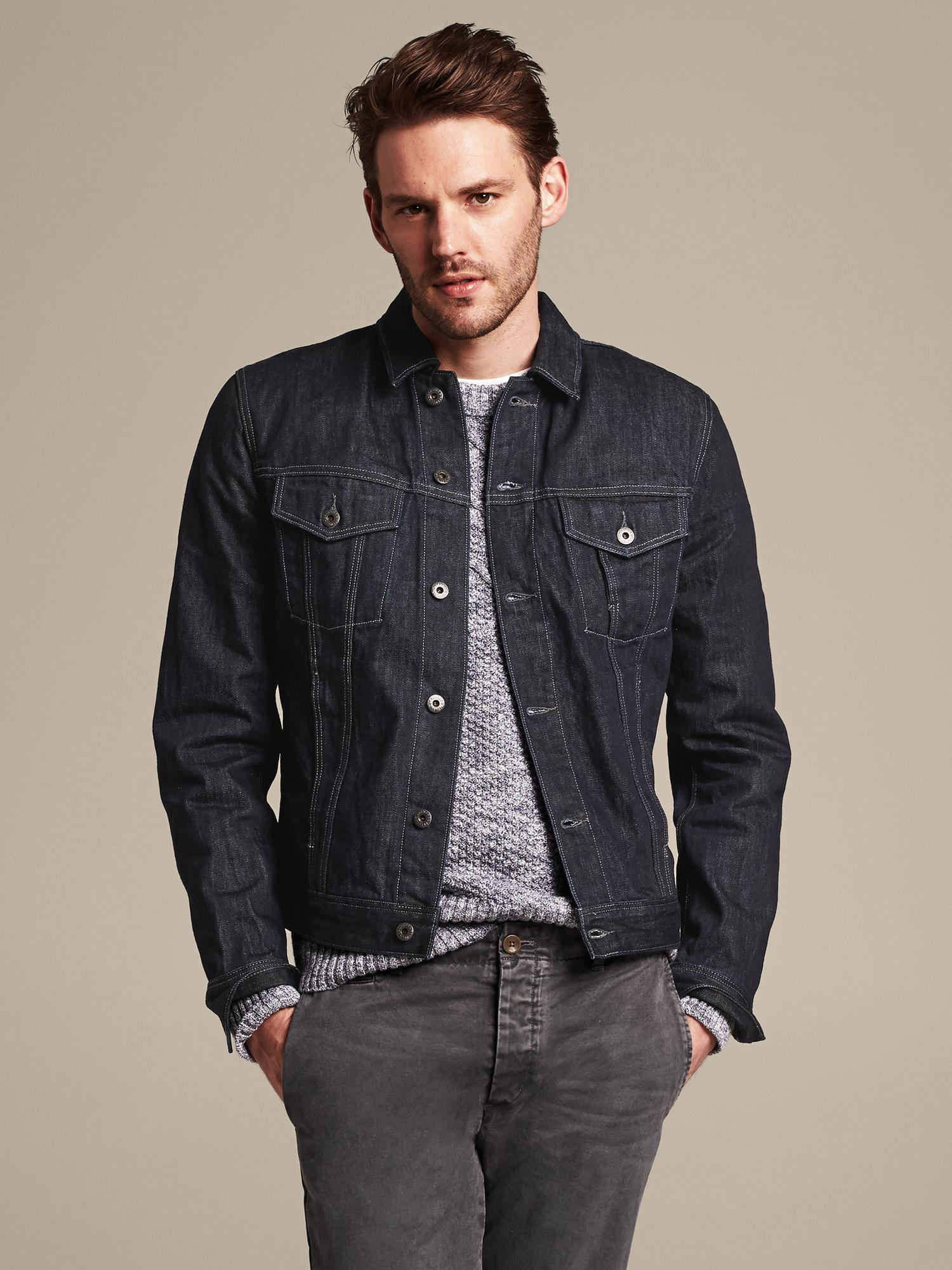 Lyst Banana Republic Heritage Denim Jacket In Blue For Men