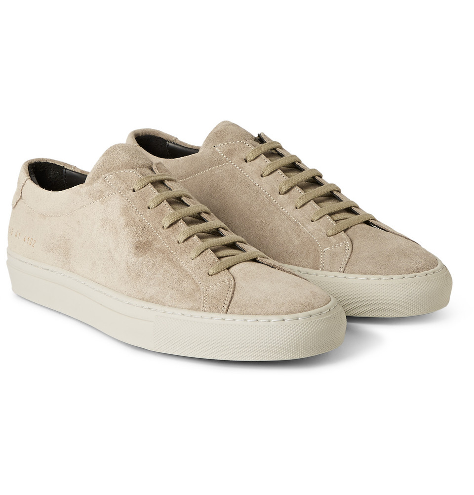 Mens Mens Original Achilles Suede Sneakers Common Projects