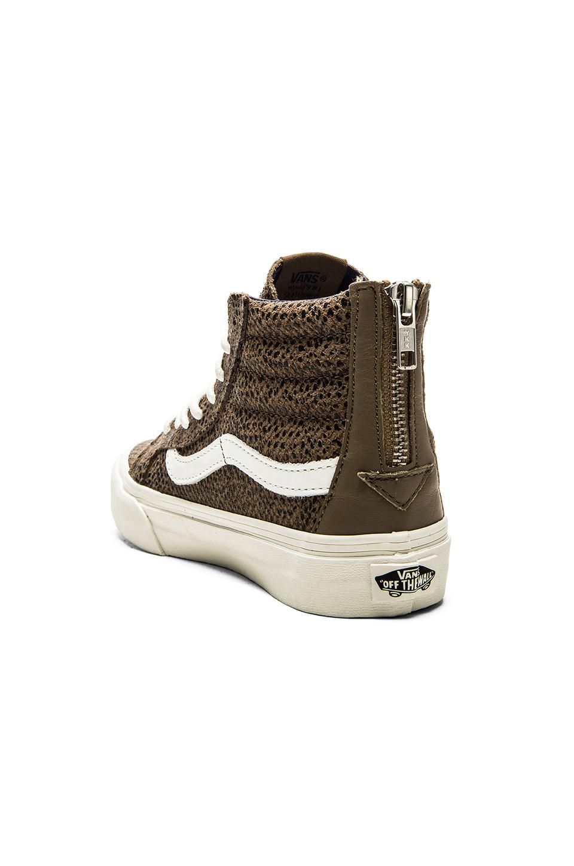 dfbd34592712e7 Lyst - Vans Sk8 Hi Slim Zip Cheetah Suede Sneaker in Black