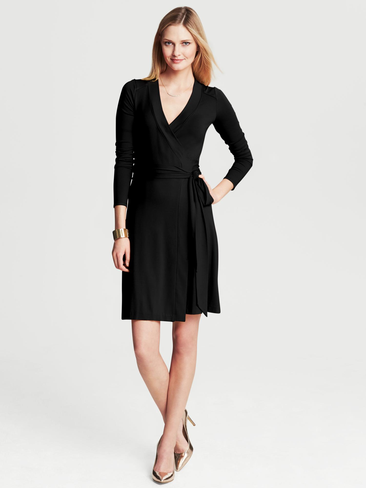 Banana Republic Gemma Wrap Dress In Black Lyst