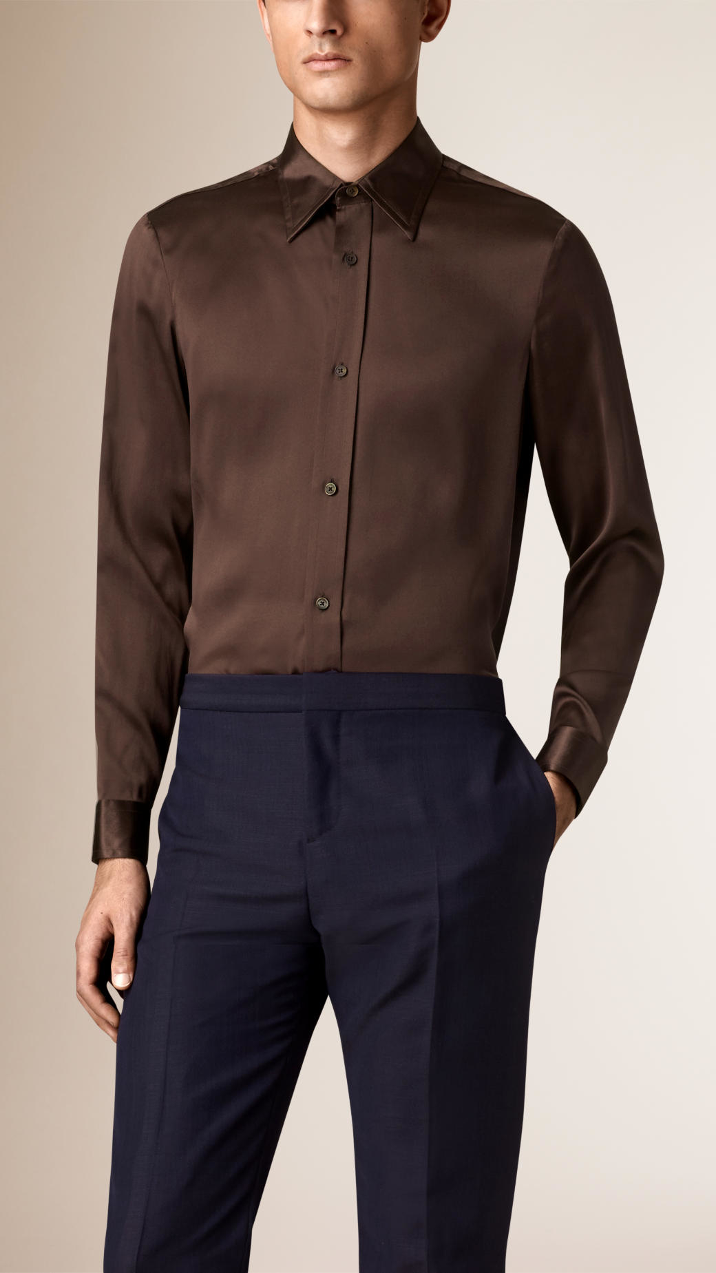 Chocolate colored dress shirts
