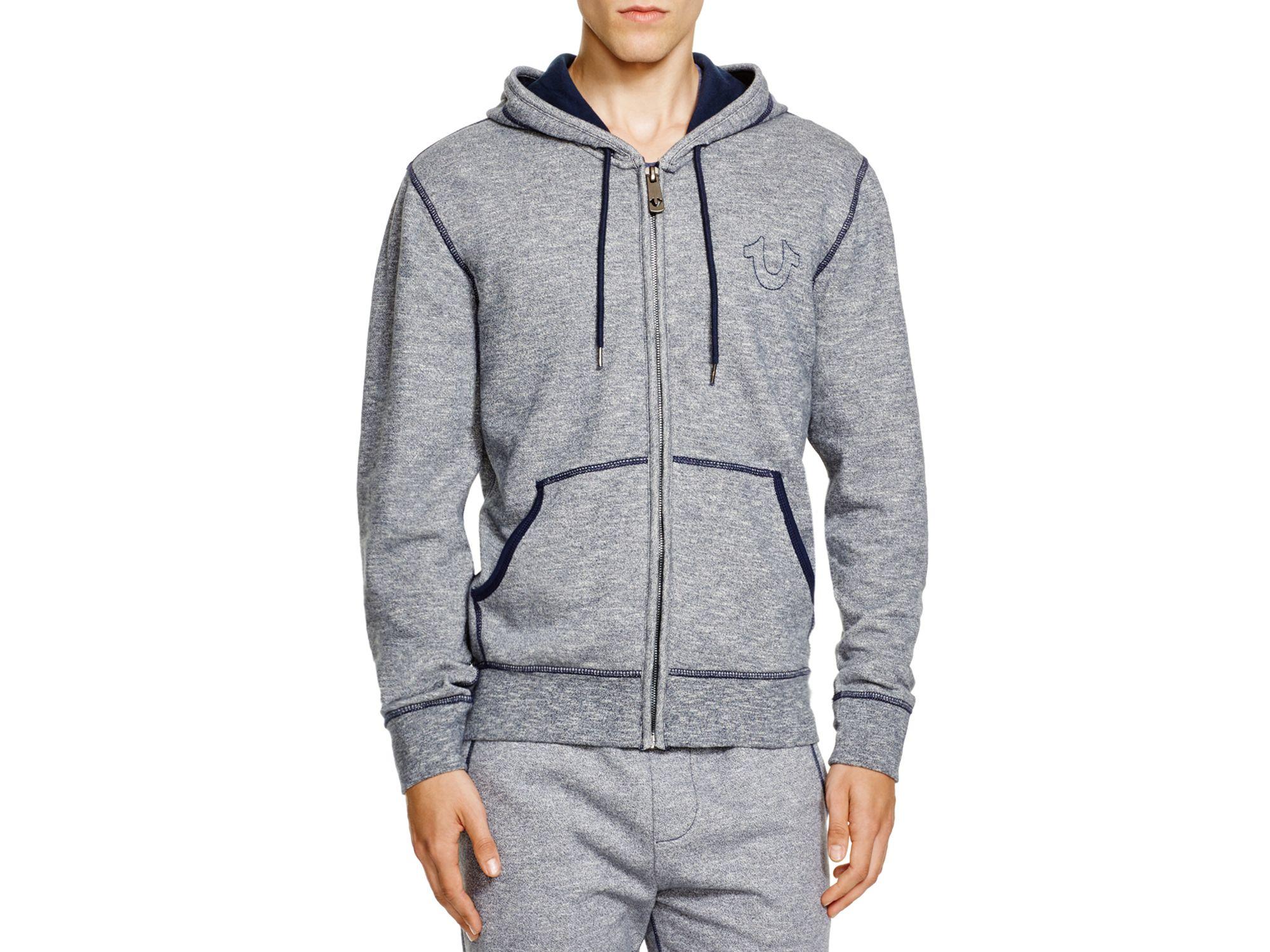 true religion active zip hoodie in gray lyst. Black Bedroom Furniture Sets. Home Design Ideas