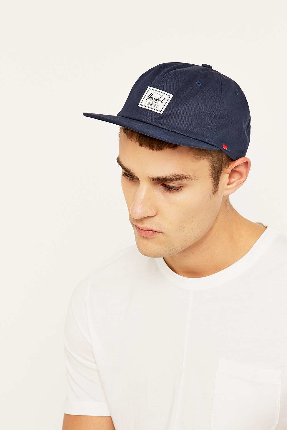 uk availability 9e1e0 d6a79 ... promo code for herschel supply co. albert navy strapback cap in blue  for men lyst ...