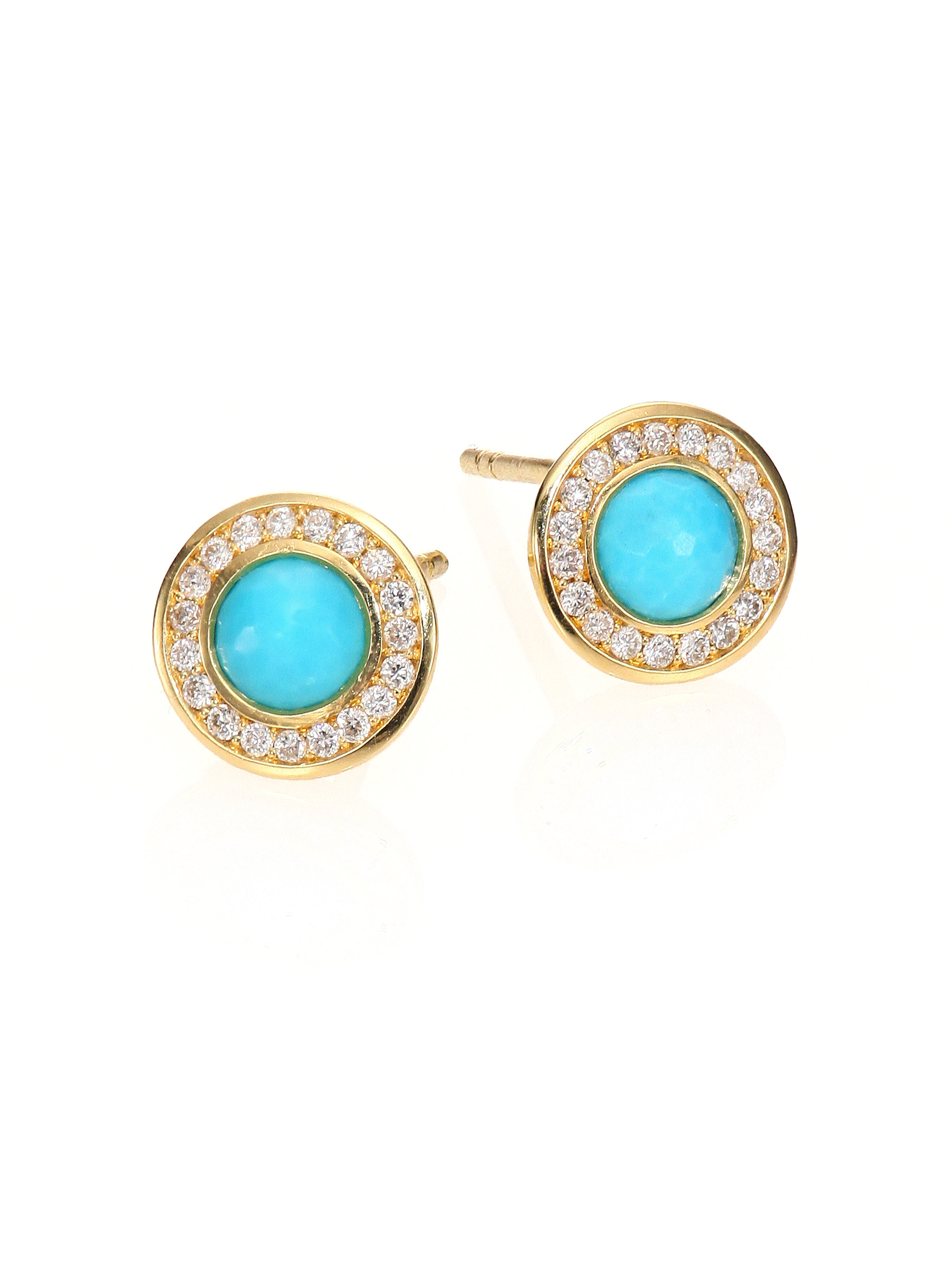 graff diamond earrings round stud blue collections classic pair of a
