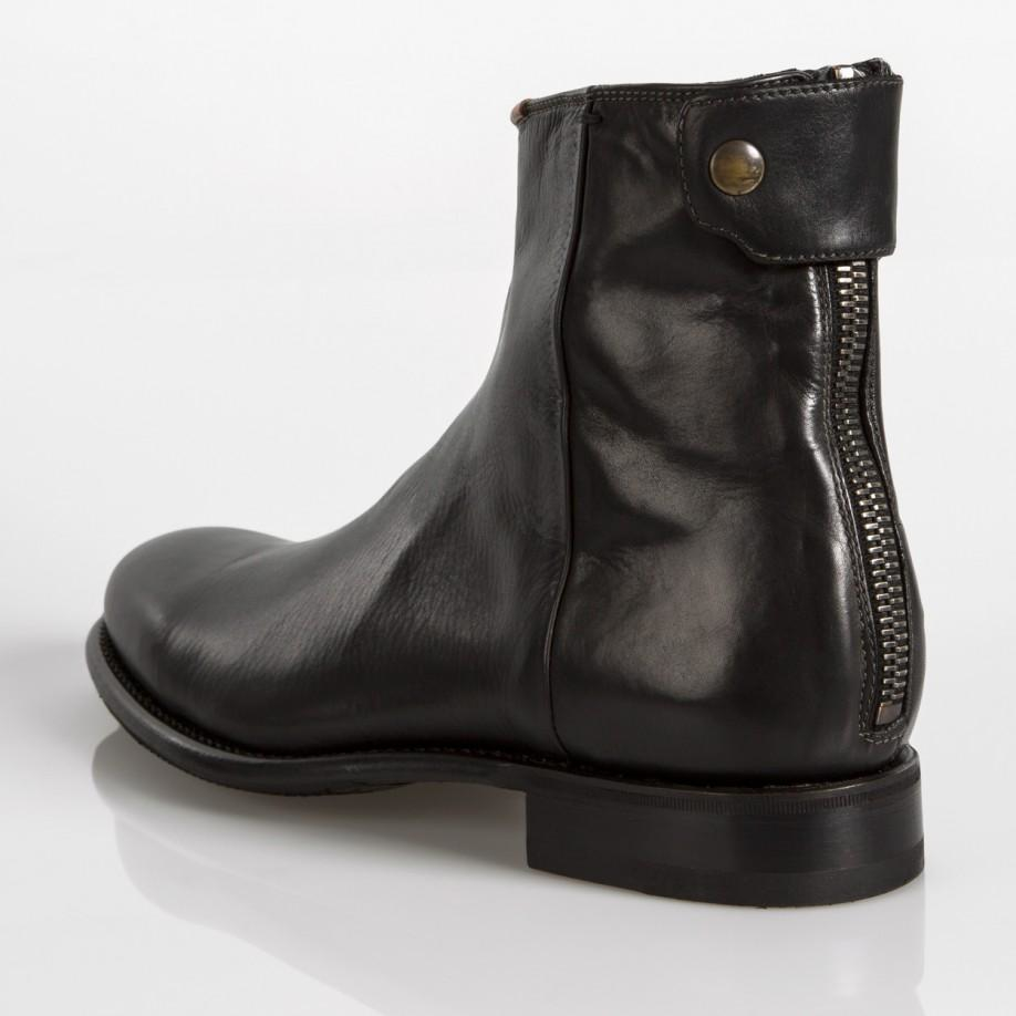 Paul Smith Men S Dip Dyed Black Leather Claude Boots With
