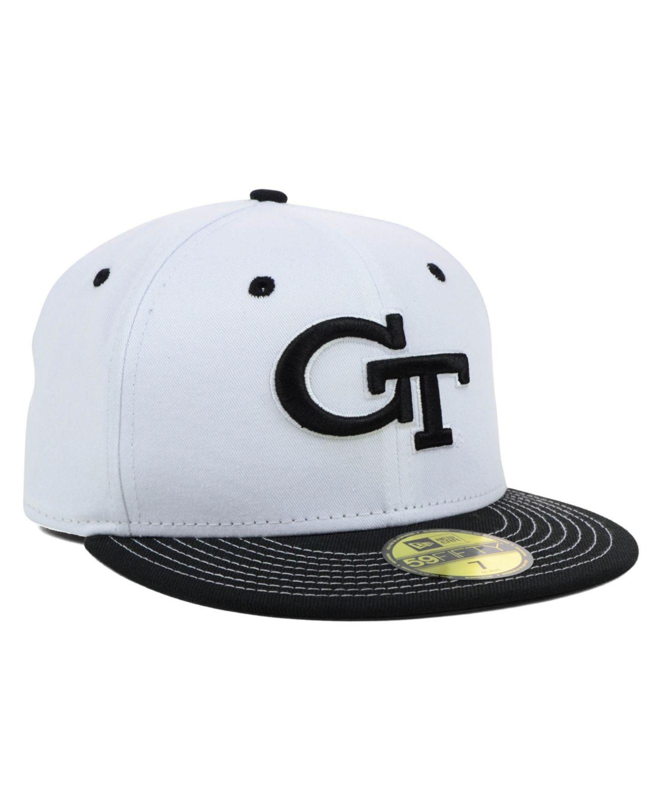 huge discount 99e95 08ca7 Lyst - KTZ Georgia Tech Yellow Jackets Ncaa White Black 59fifty Cap ...