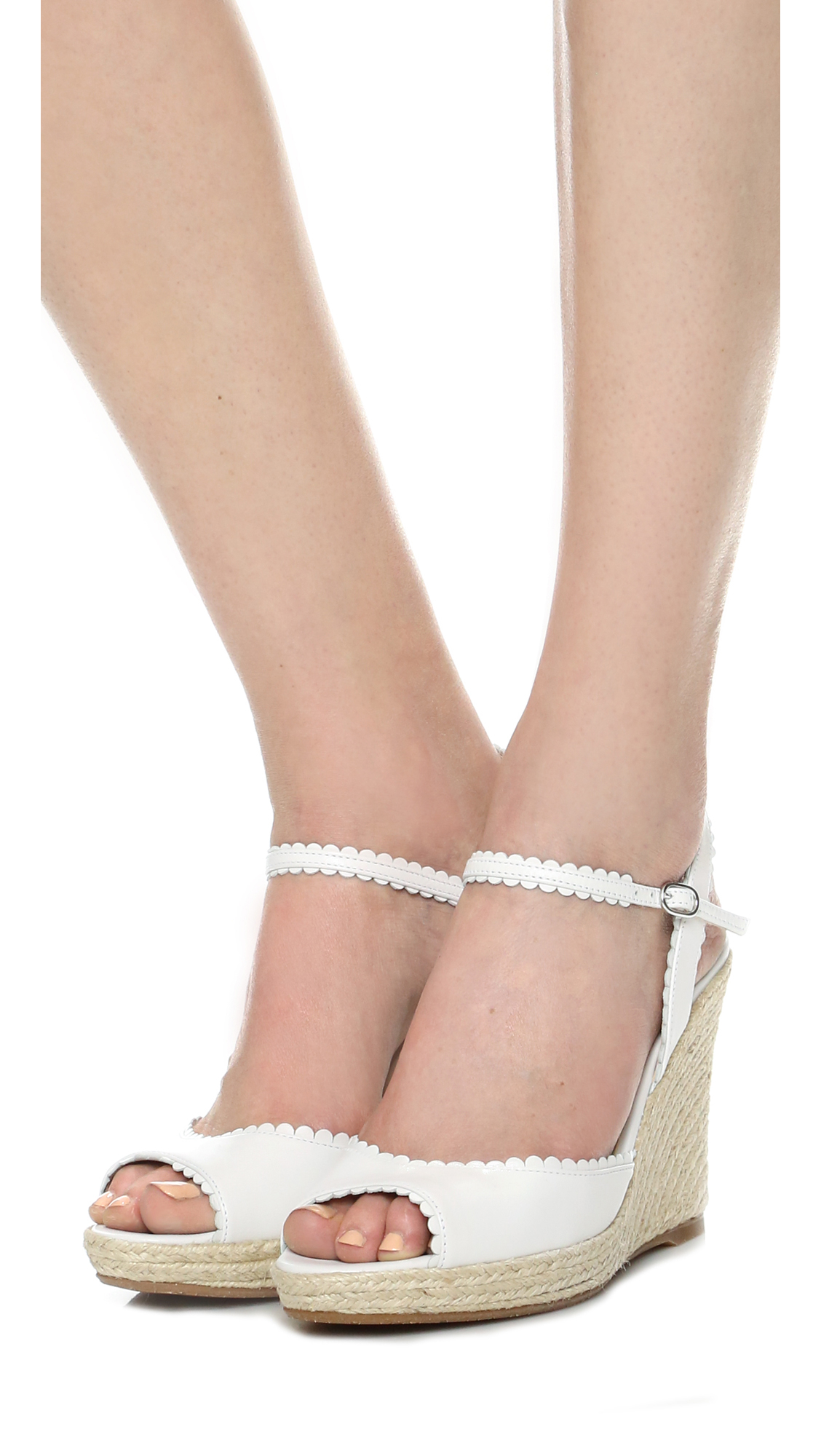 Lyst - L.k.bennett Seve Wedge Sandals in White