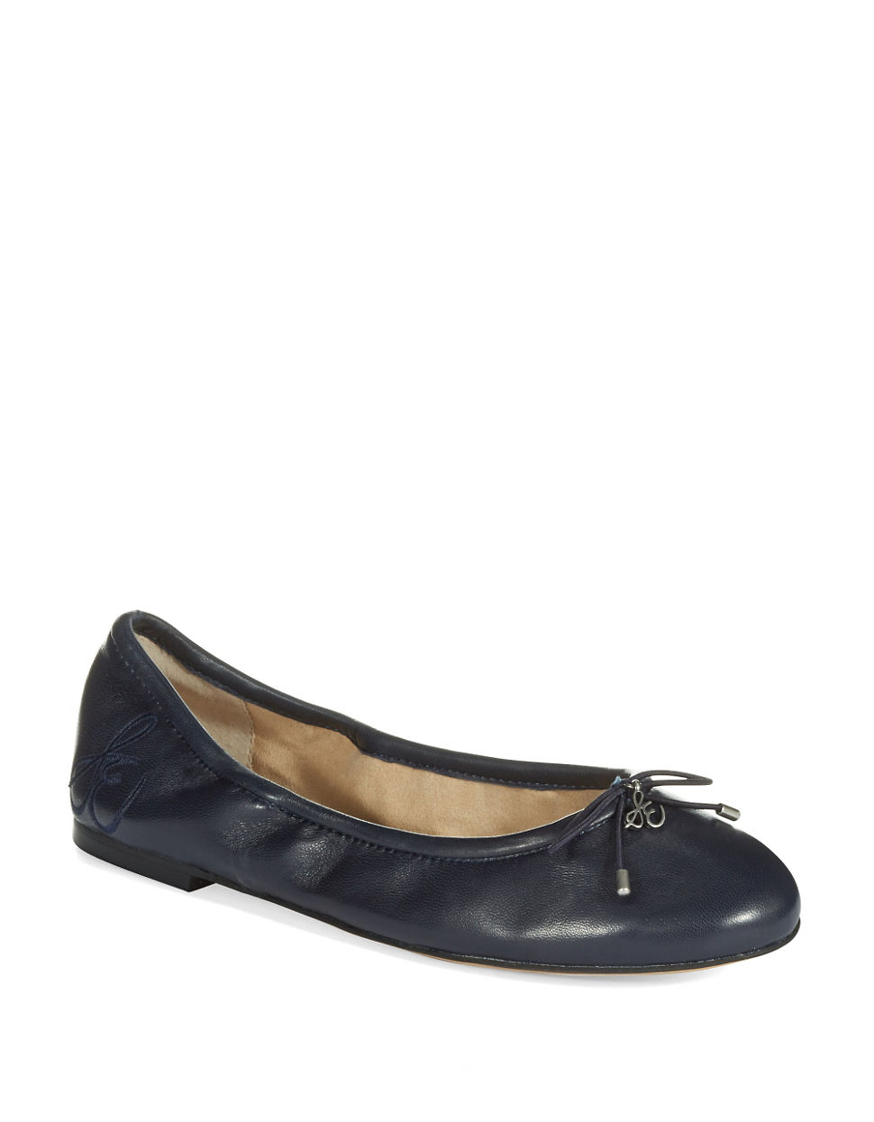 Sam Edelman Felicia Leather Flats In Blue Lyst