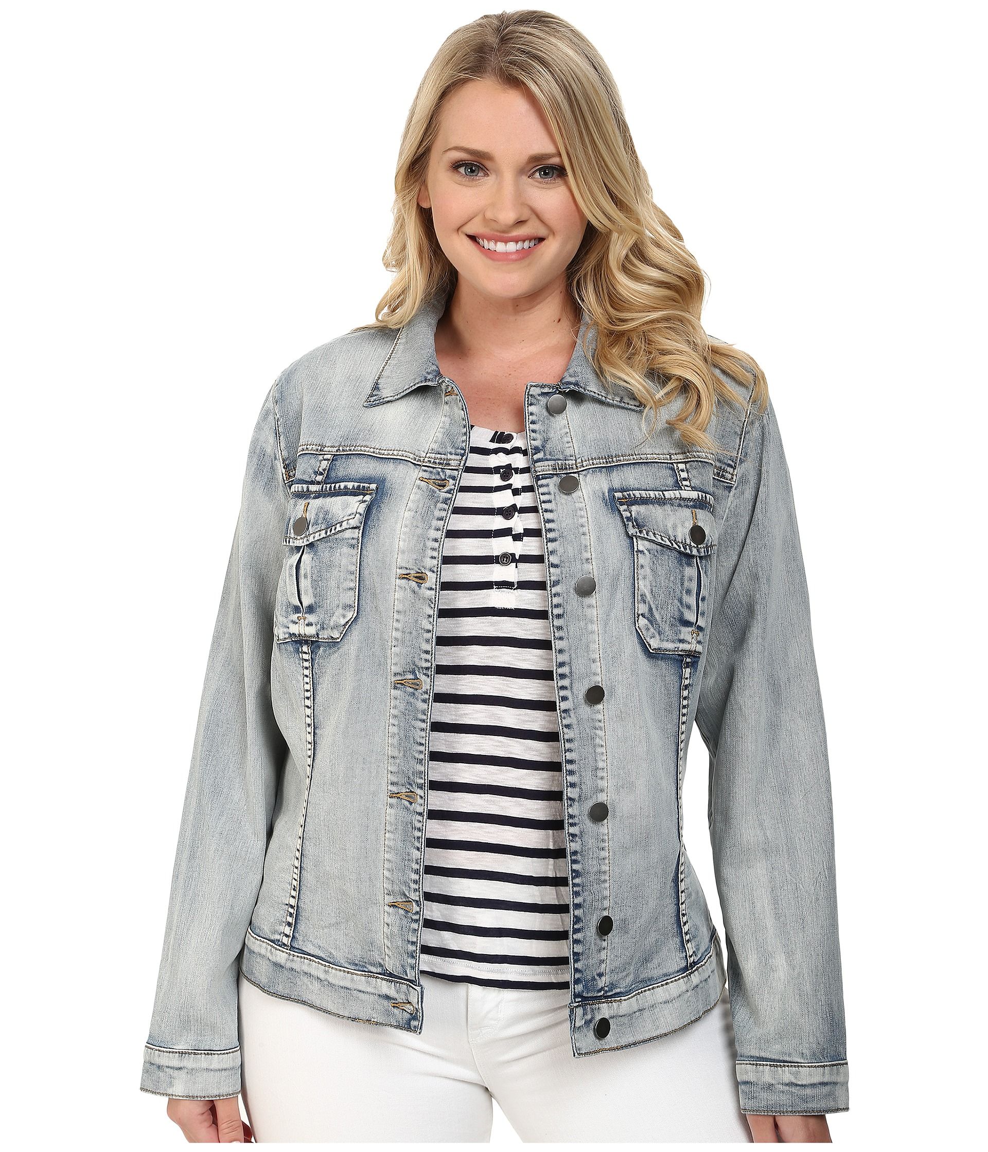 KUT from the Kloth Womens Amelia Denim Jacket in Vitality