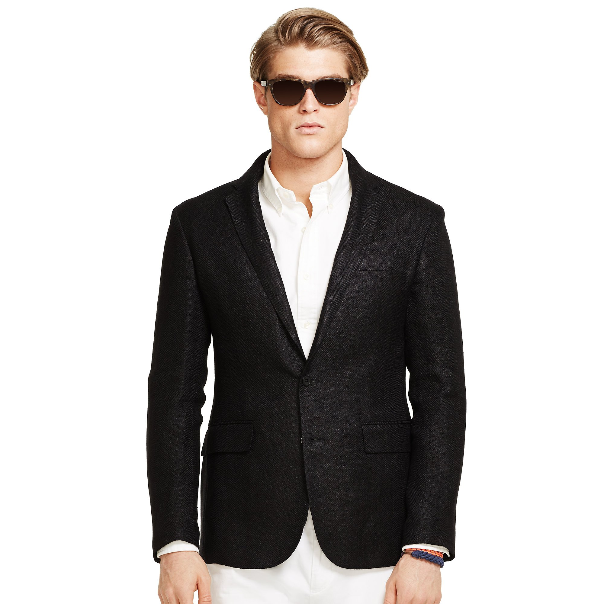 Polo ralph lauren Morgan Herringbone Sport Coat in Black | Lyst