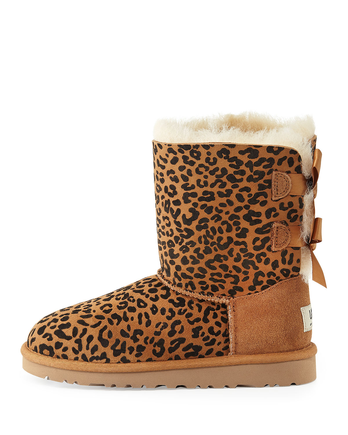 Lyst Ugg Kids Leopard Print Bailey Boot In Brown