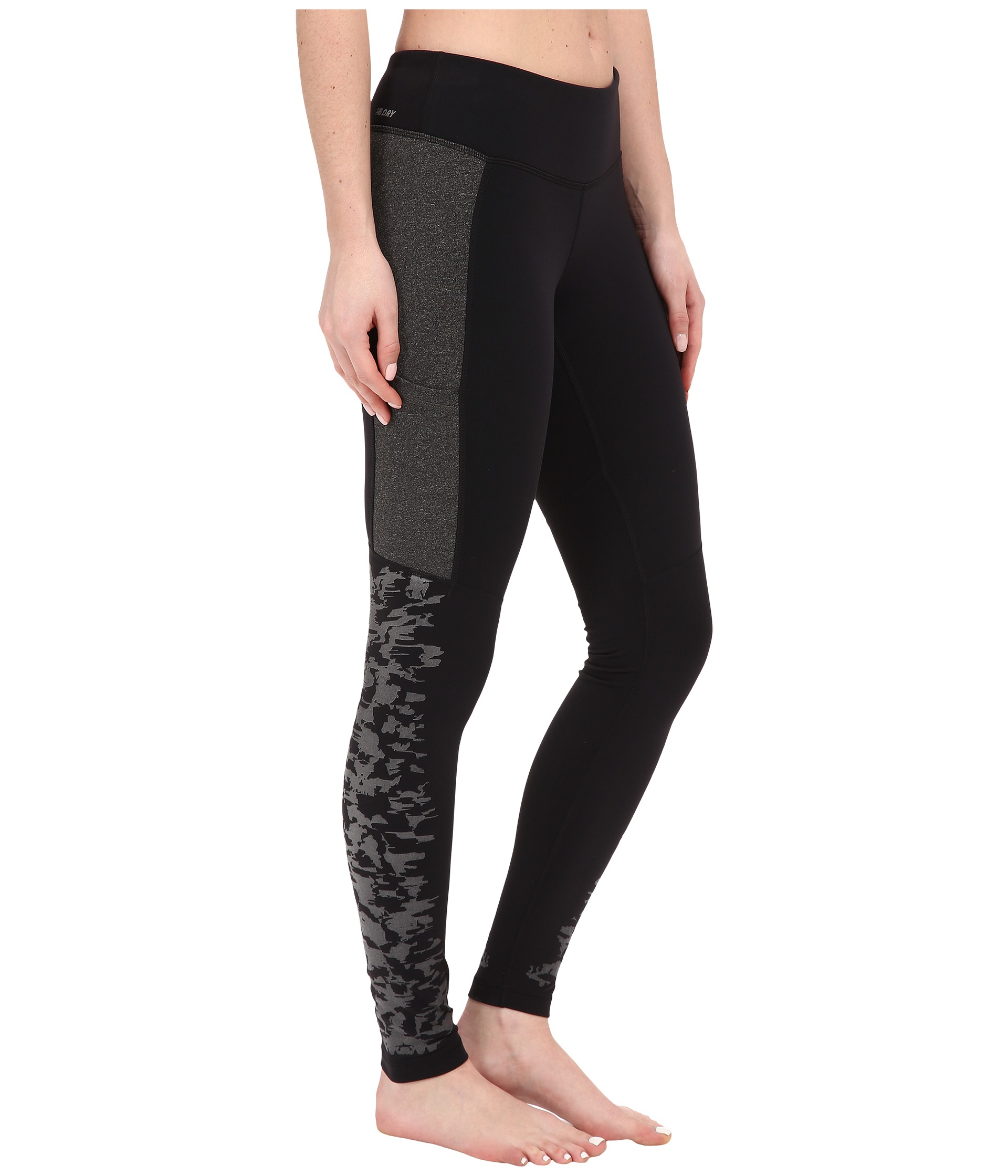d1638a47ffe43 Our Impact Premium Tight flaunts cool print patterns up and down your leg,  plus breezy mesh insets behind your knee. And to enhance comfort, ...
