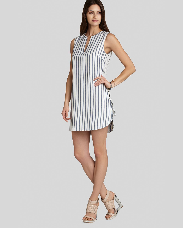 Bcbgmaxazria Bcbg Max Azria Dress Yousra Stripe In White