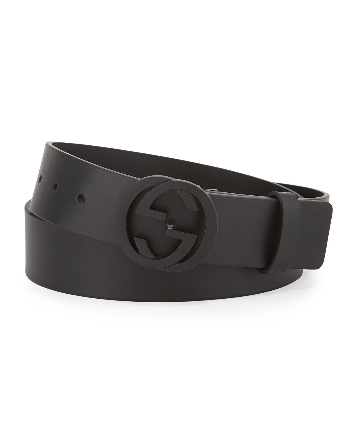 081663b53fc Gucci Leather Belt With G Buckle Black