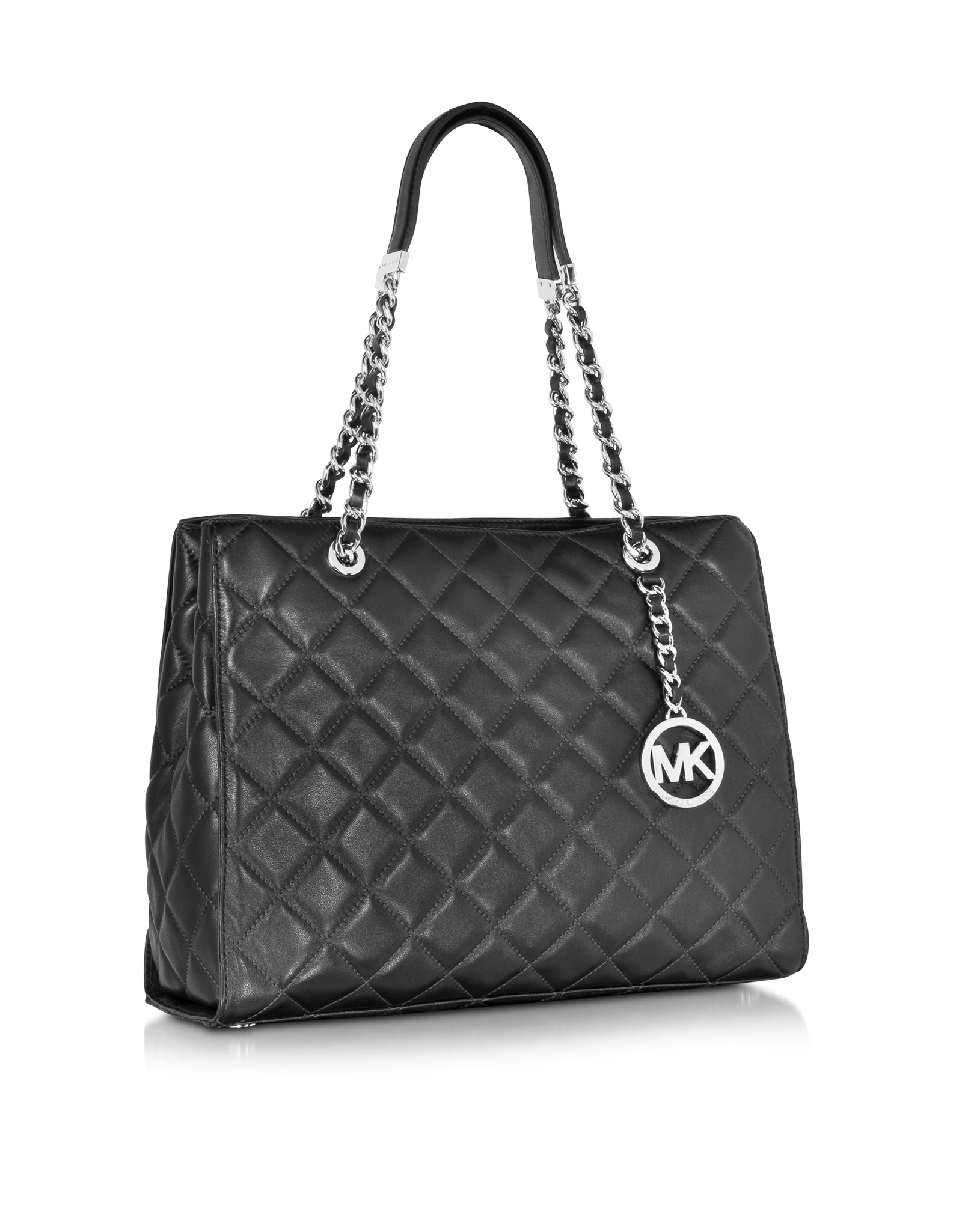 Lyst Michael Kors Susannah Large Black Quilted Leather
