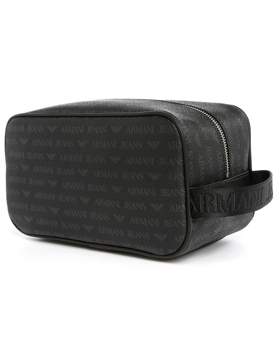 598e01cca125 Armani jeans Black Aj Logo Wash Bag in Black for Men