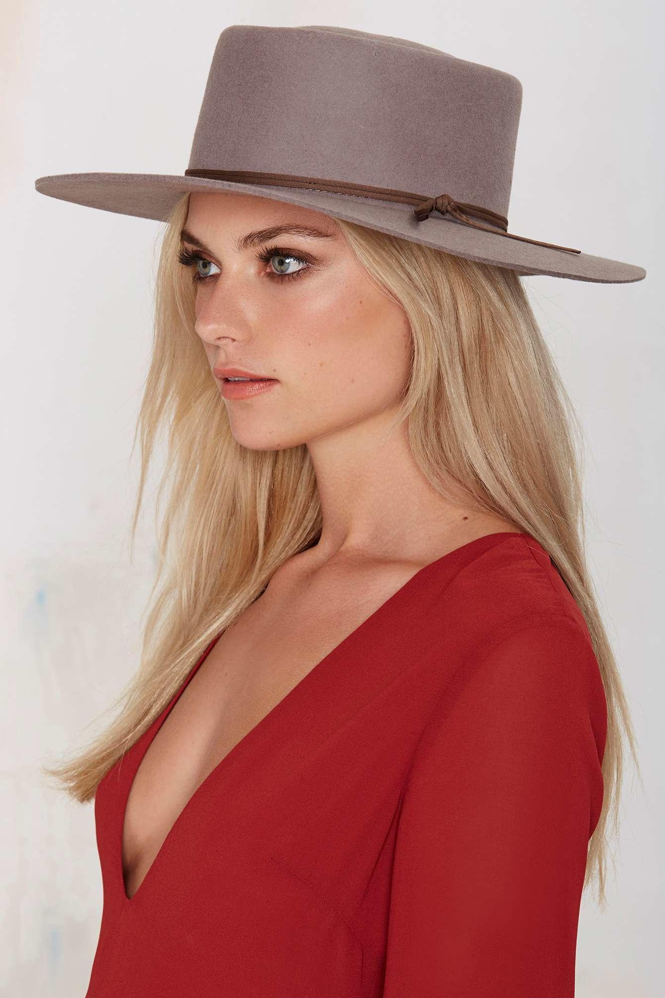 ... switzerland lyst nasty gal brixton strider wool fedora hat in gray  fdd9a dd60b 570415818772