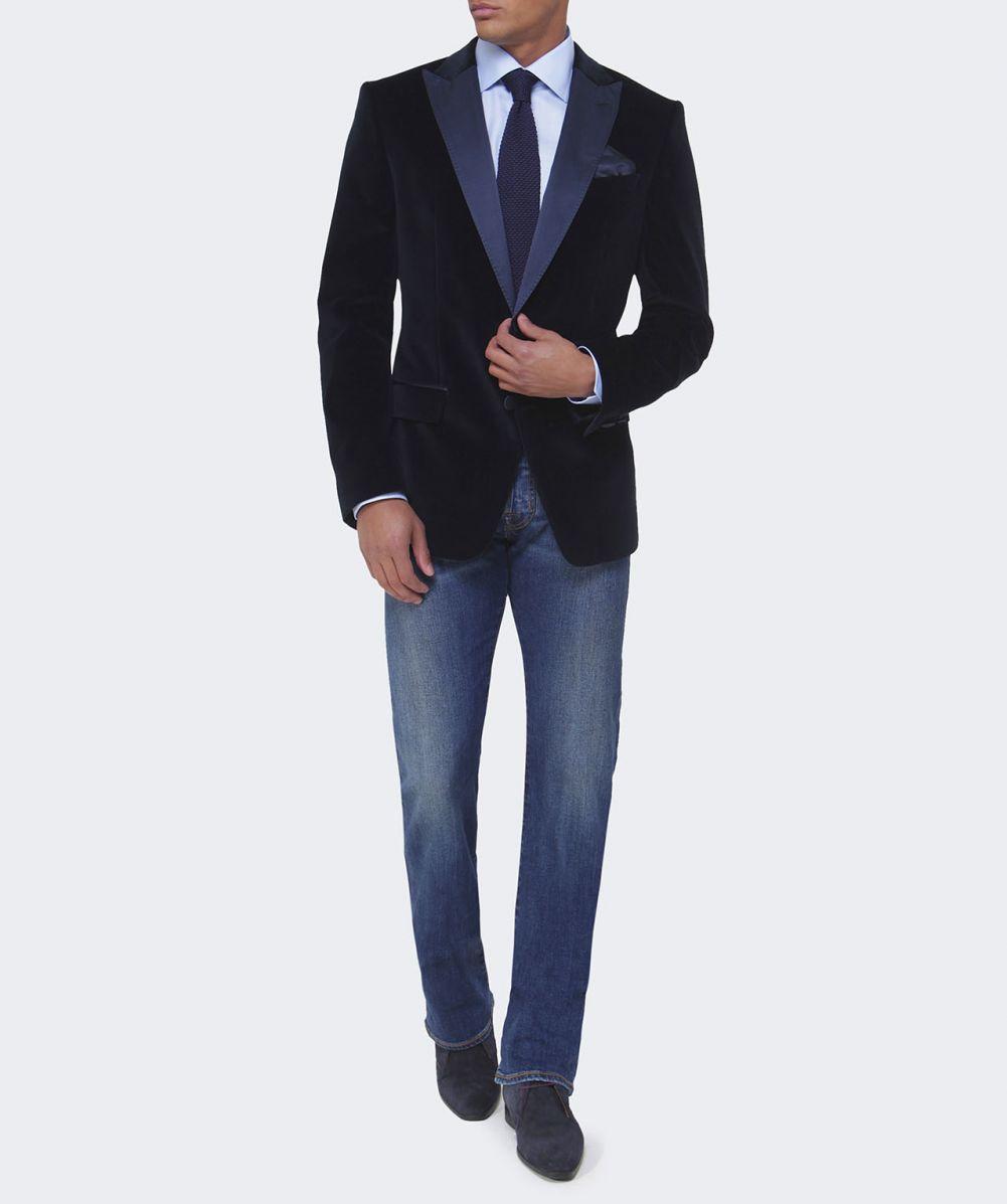 fa6d3df14 BOSS Hayford Velvet Jacket in Blue for Men - Lyst