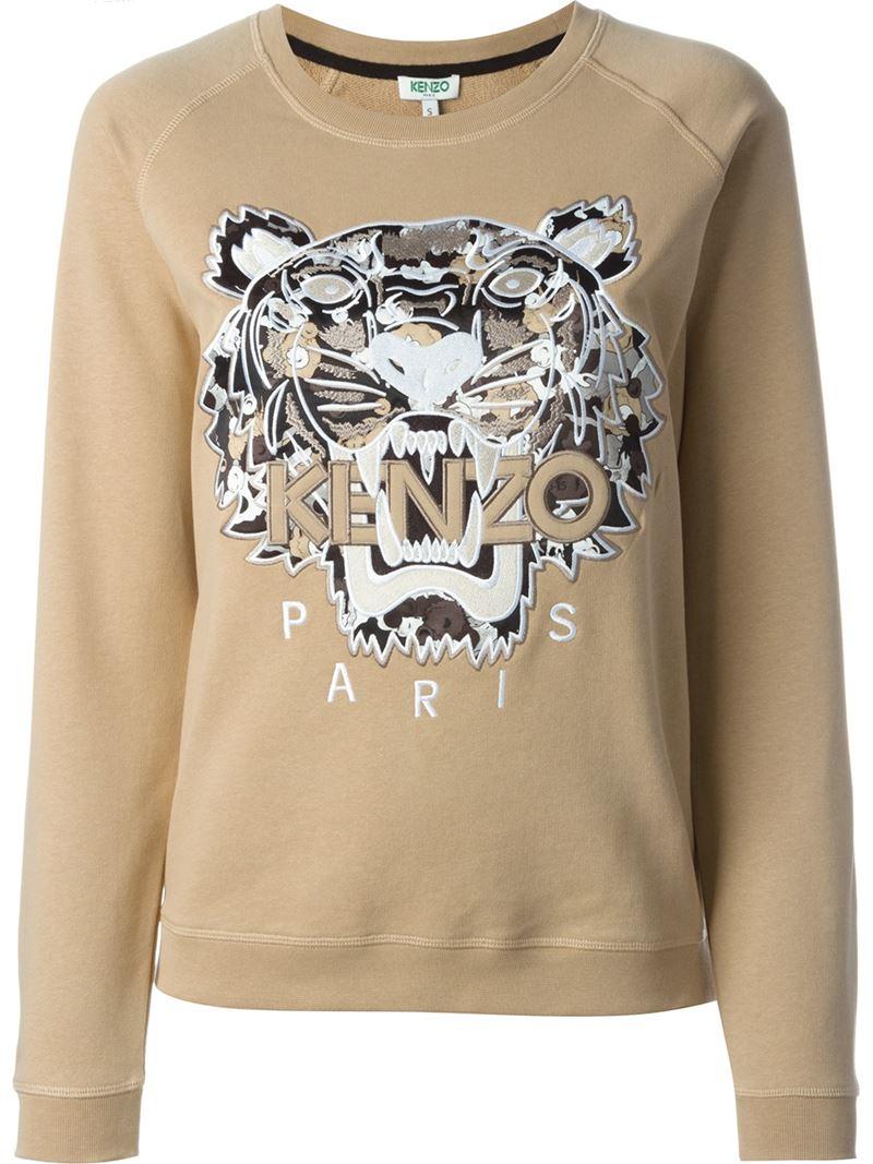 733b11c3 KENZO 'tiger' Sweatshirt in Natural - Lyst