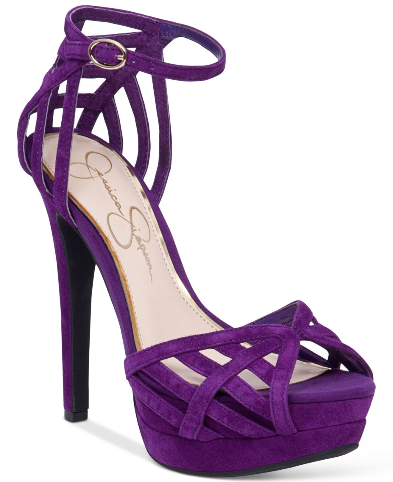 Jessica simpson Sylla Platform Dress Sandals in Purple | Lyst