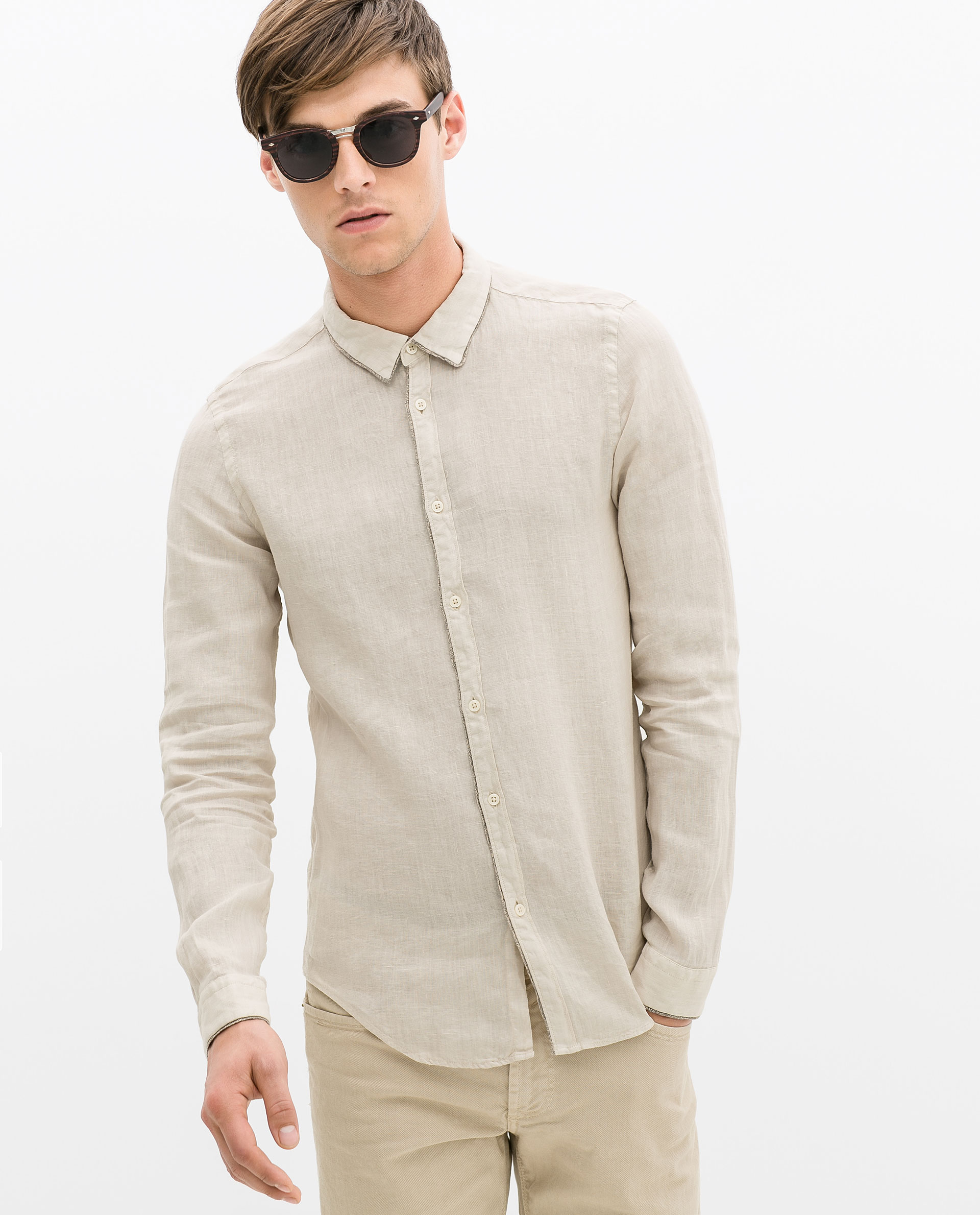 Mens Beige Shirts | Artee Shirt