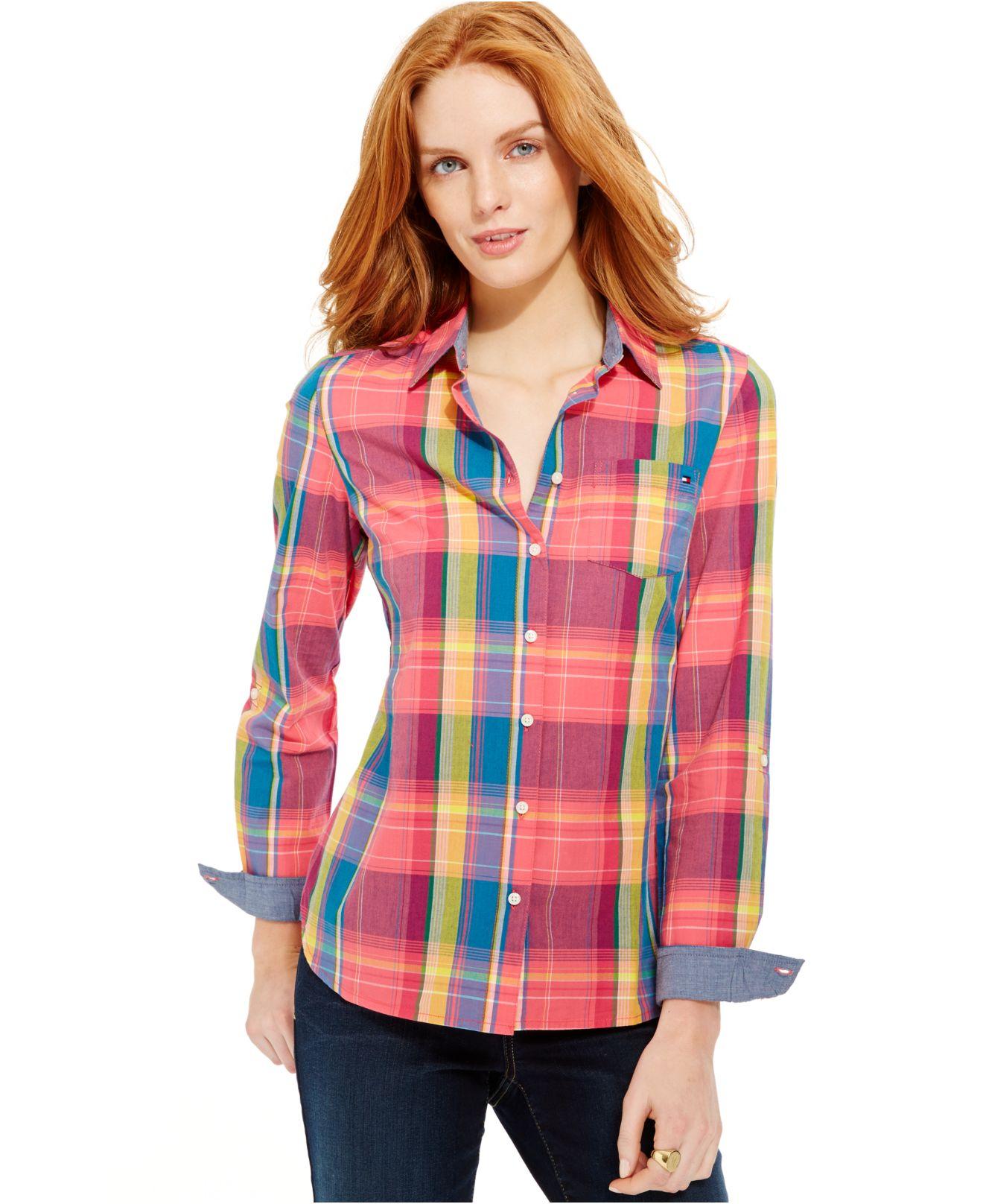 Lyst Tommy Hilfiger Multicolor Plaid Button Down Shirt