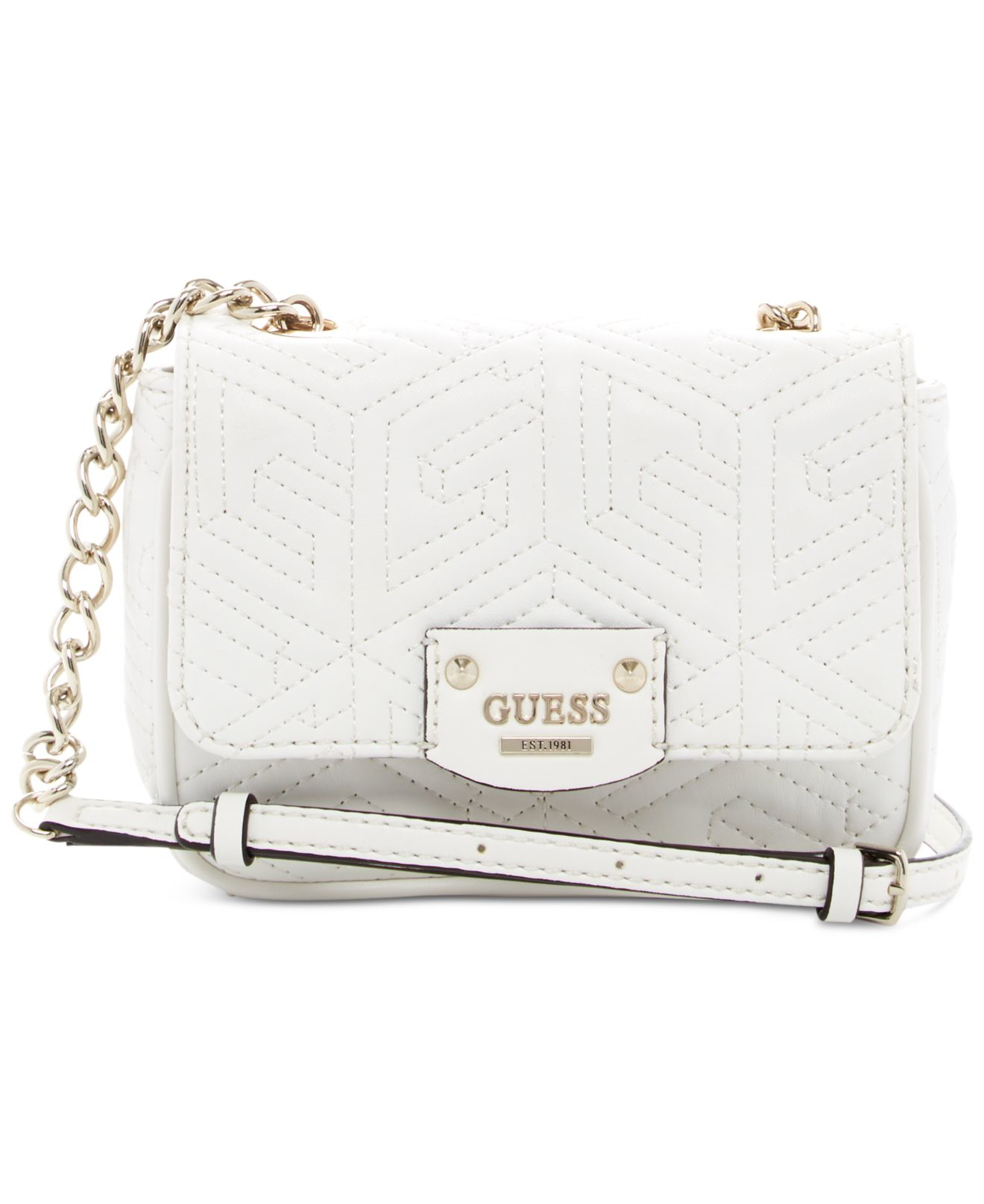 14a137296ee2 Lyst - Guess G Cube Quilted Petite Crossbody in White