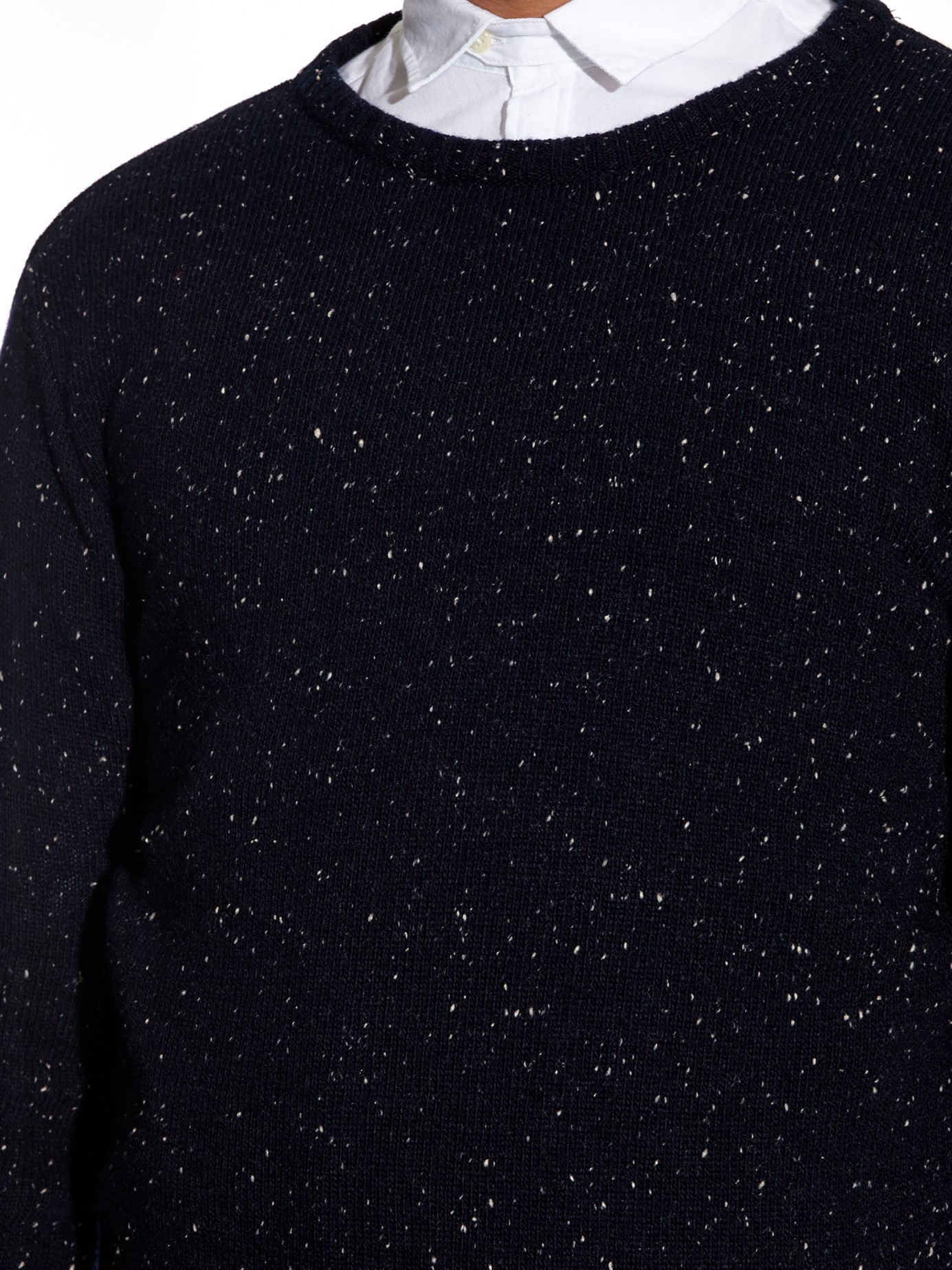 Oliver spencer Donegal Wool Sweater in Blue for Men | Lyst