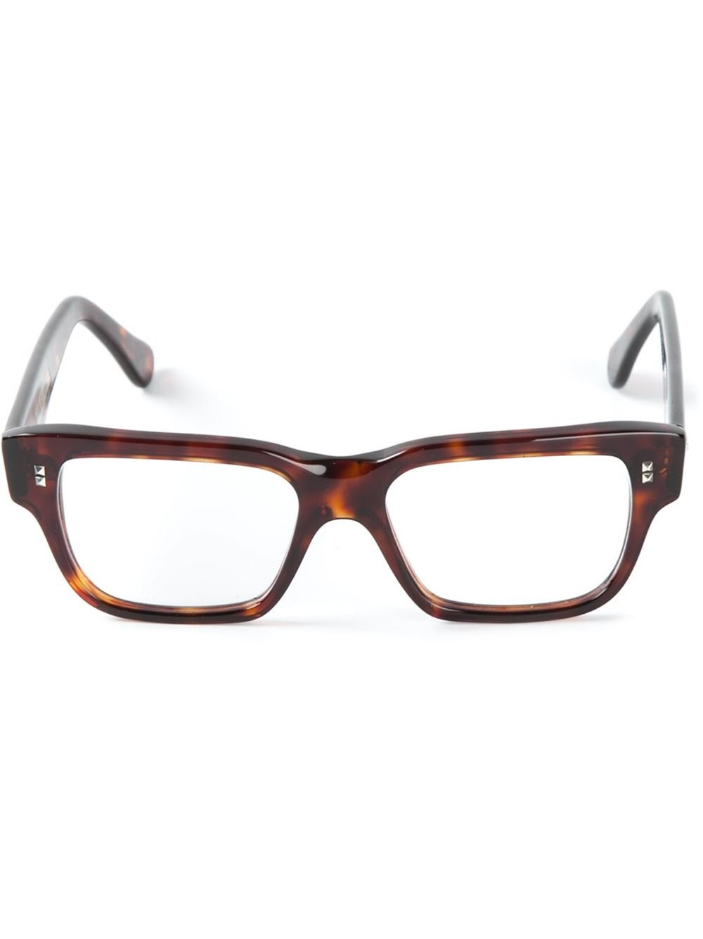 Cutler & gross Square Frame Optical Glasses in Brown for ...