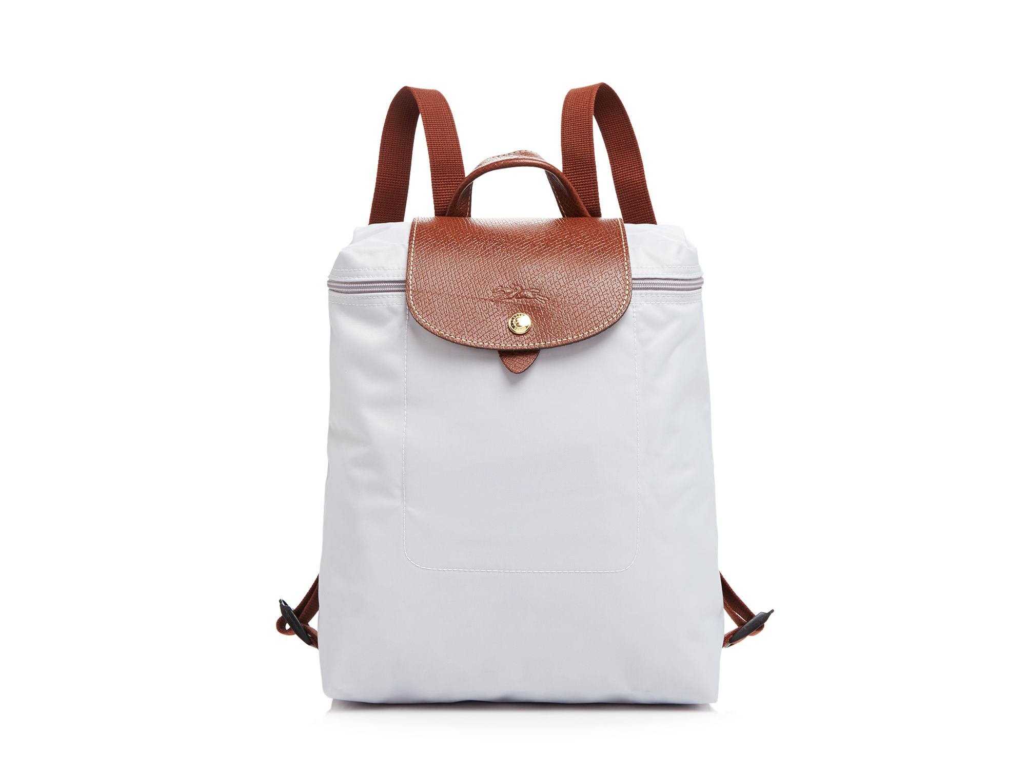 Lyst - Longchamp Le Pliage Backpack in White 4af9aab337e5c
