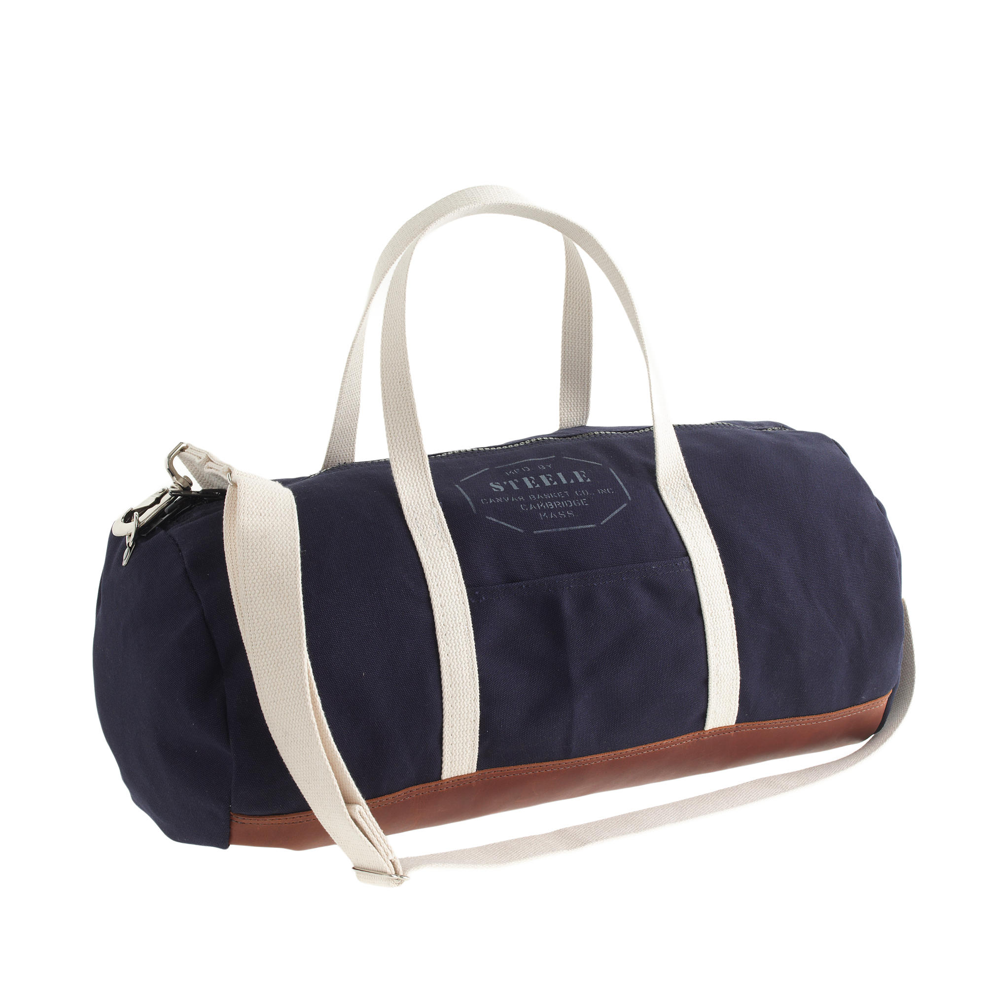 Jcrew Steele Canvas Basket Co For Leathertrim Gym Bag In Blue