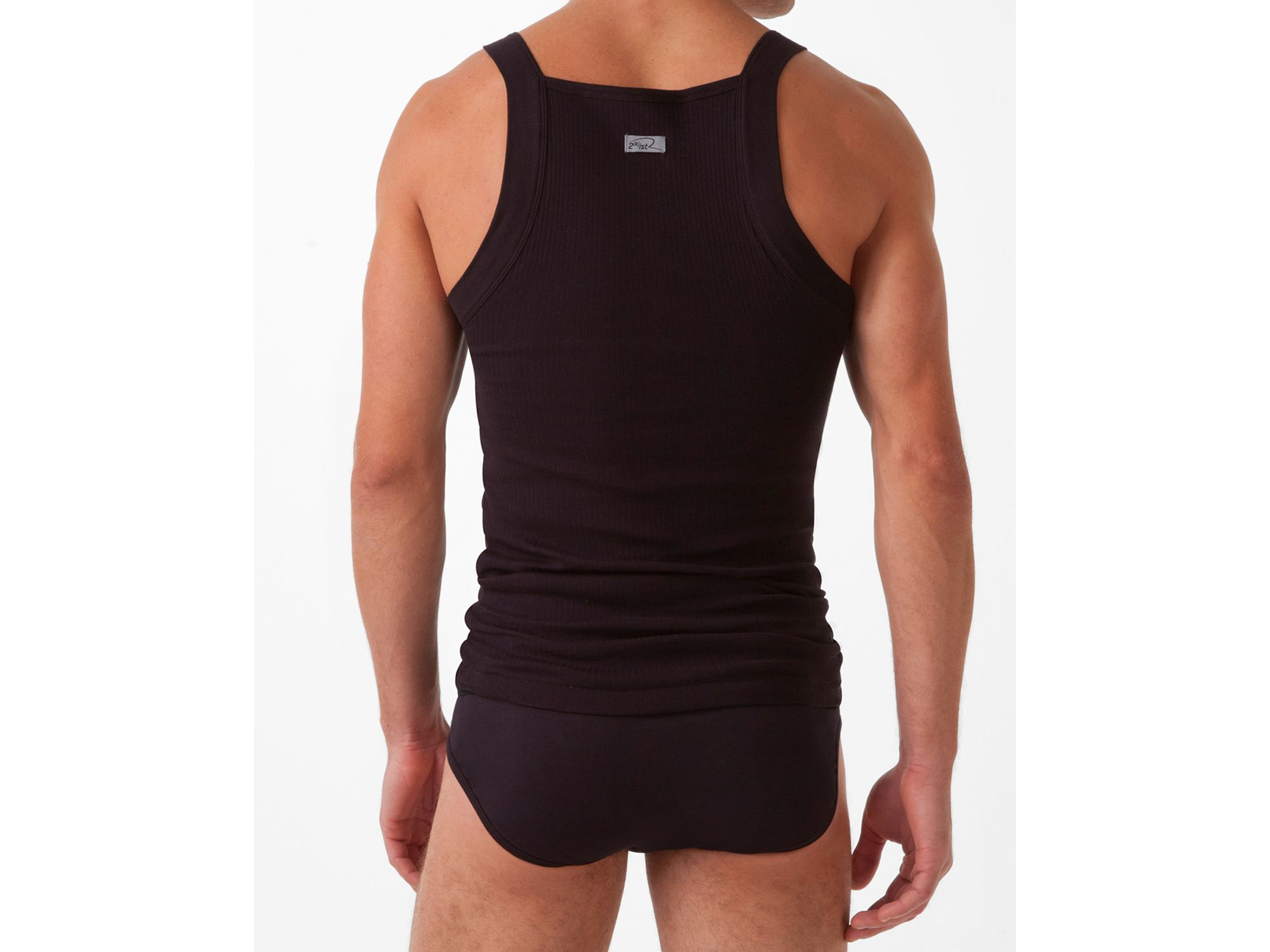 e834be49150287 2xist 2(x)ist Form Square Cut Tank Top in Black for Men - Lyst