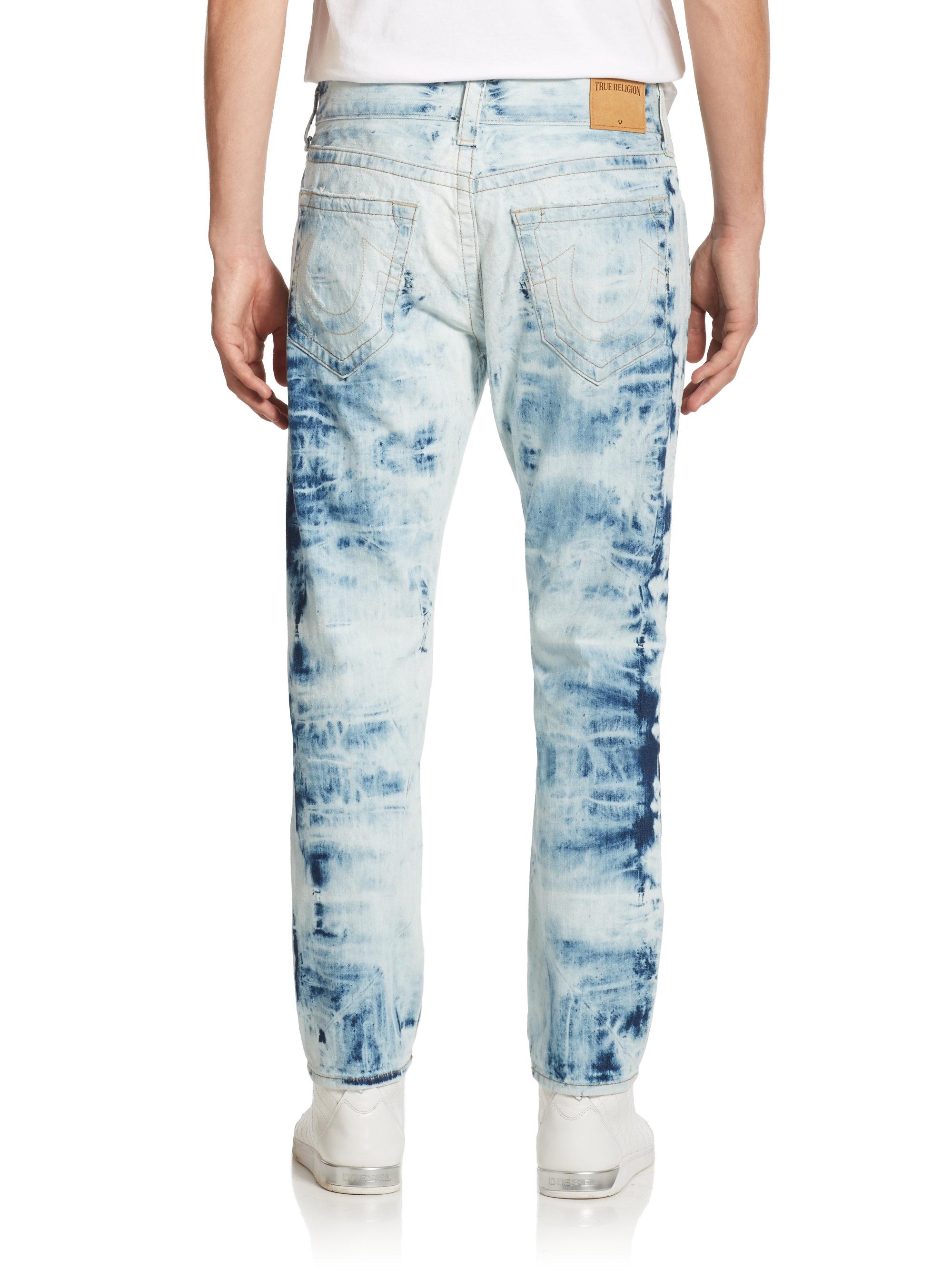 Lyst True Religion Dean Tapered Tie Dye Jeans In Blue