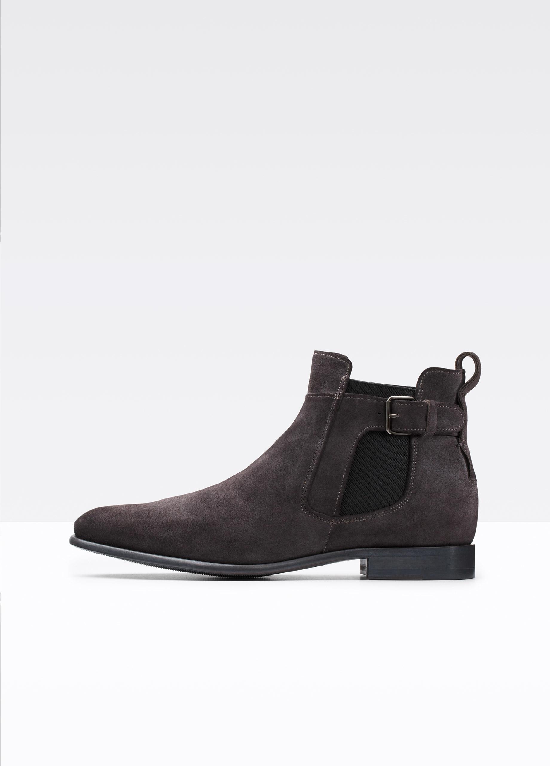Aston Grey Suede Shoes