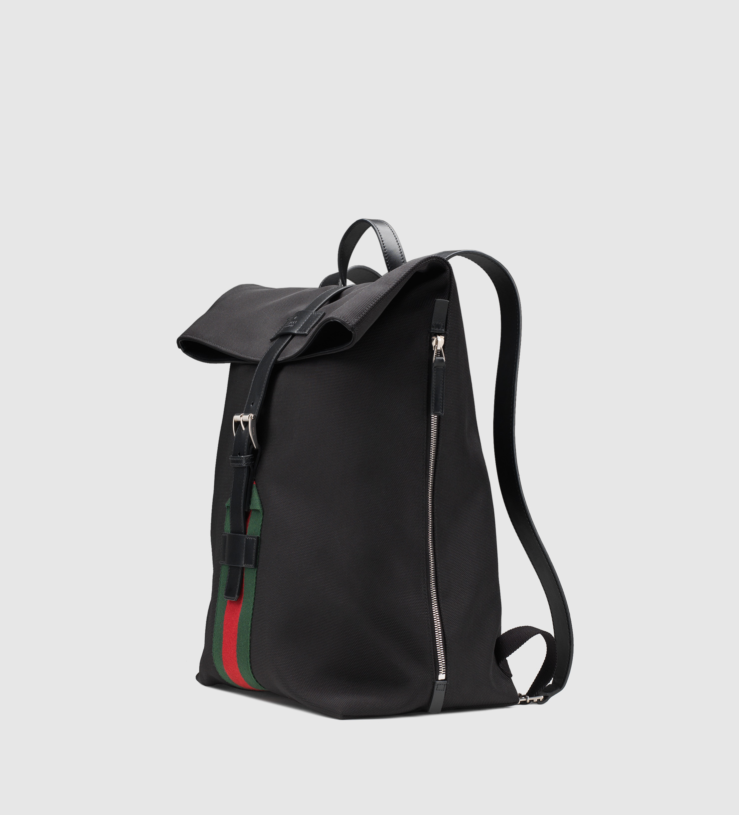 6b654b4b71d9 Lyst - Gucci Black Techno Canvas Backpack in Black for Men