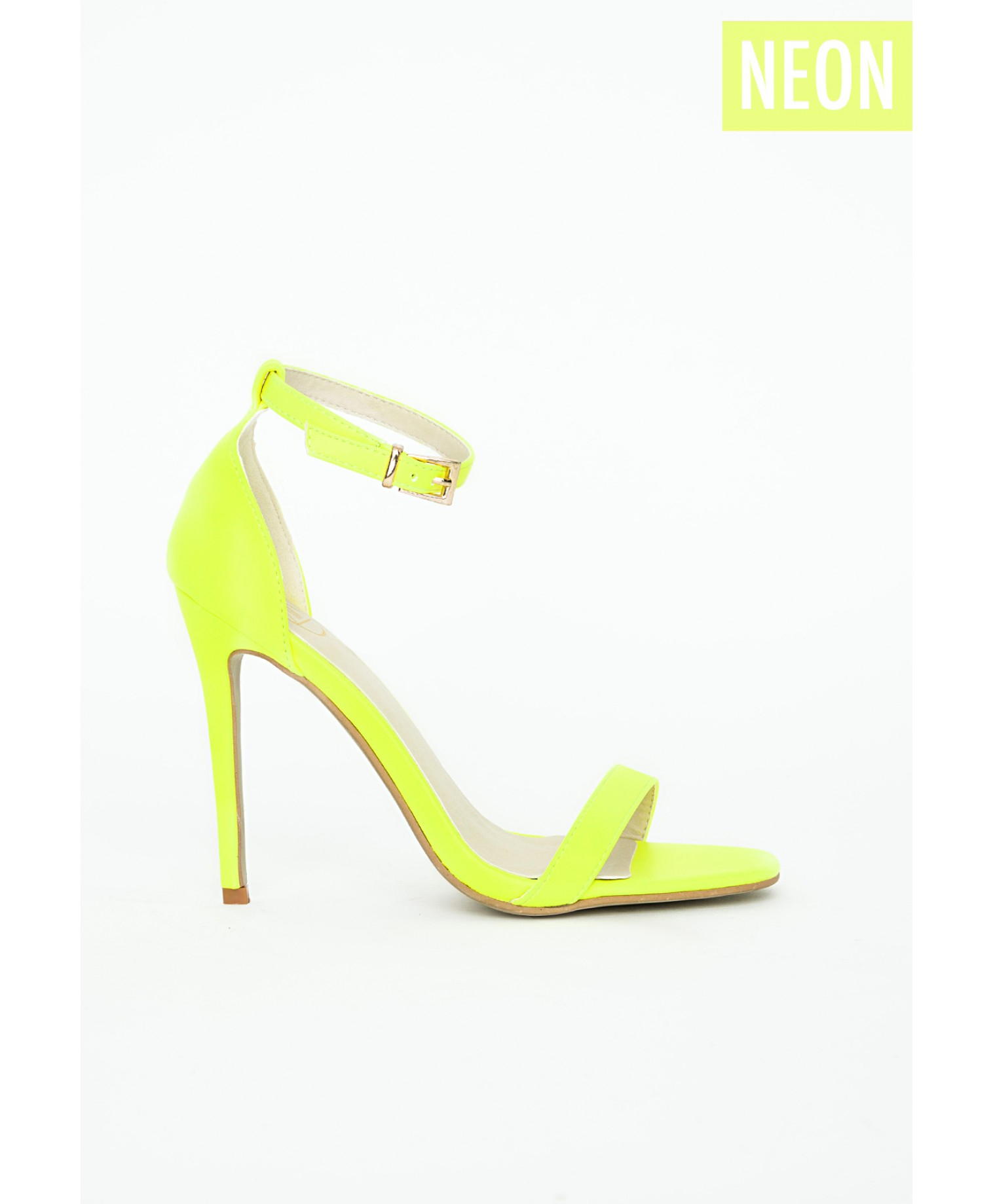 Missguided Clara Neon Yellow Strappy Sandals in Yellow | Lyst
