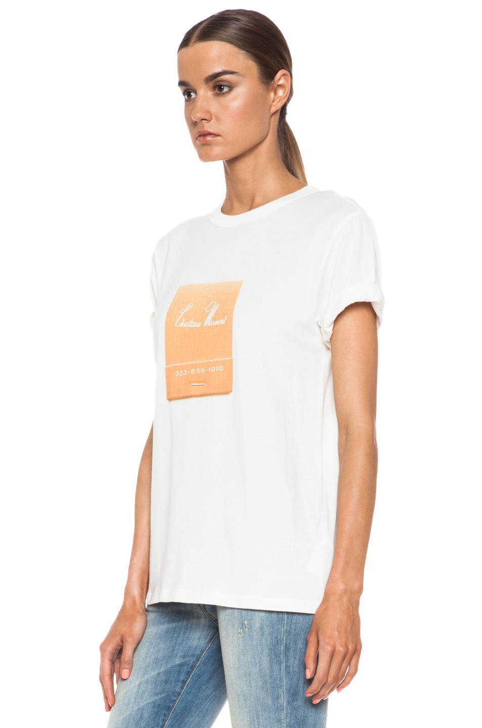c9e493b7242 Lyst - Band of Outsiders Chateau Marmont Cotton Tee in White for Men