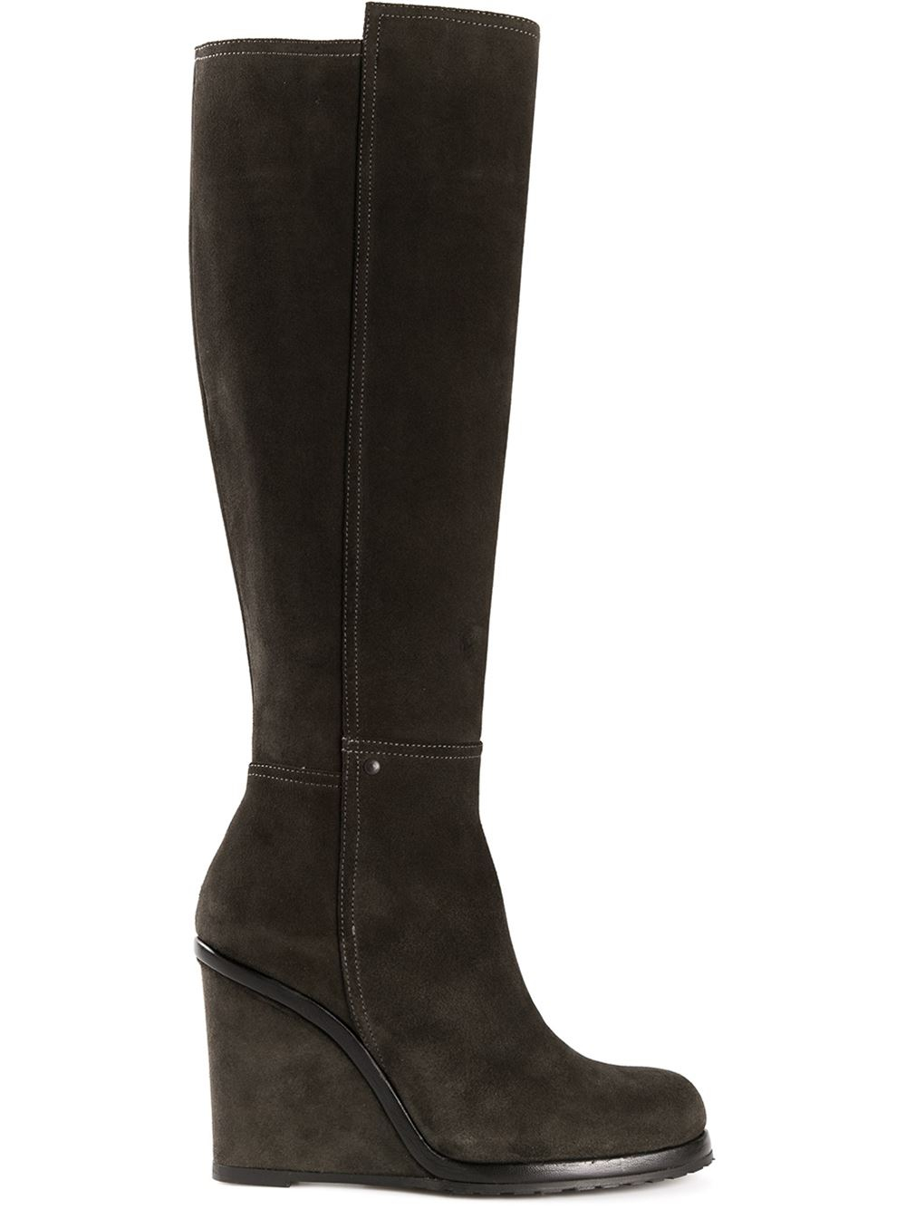 chuckies new york wedge boots in gray grey lyst