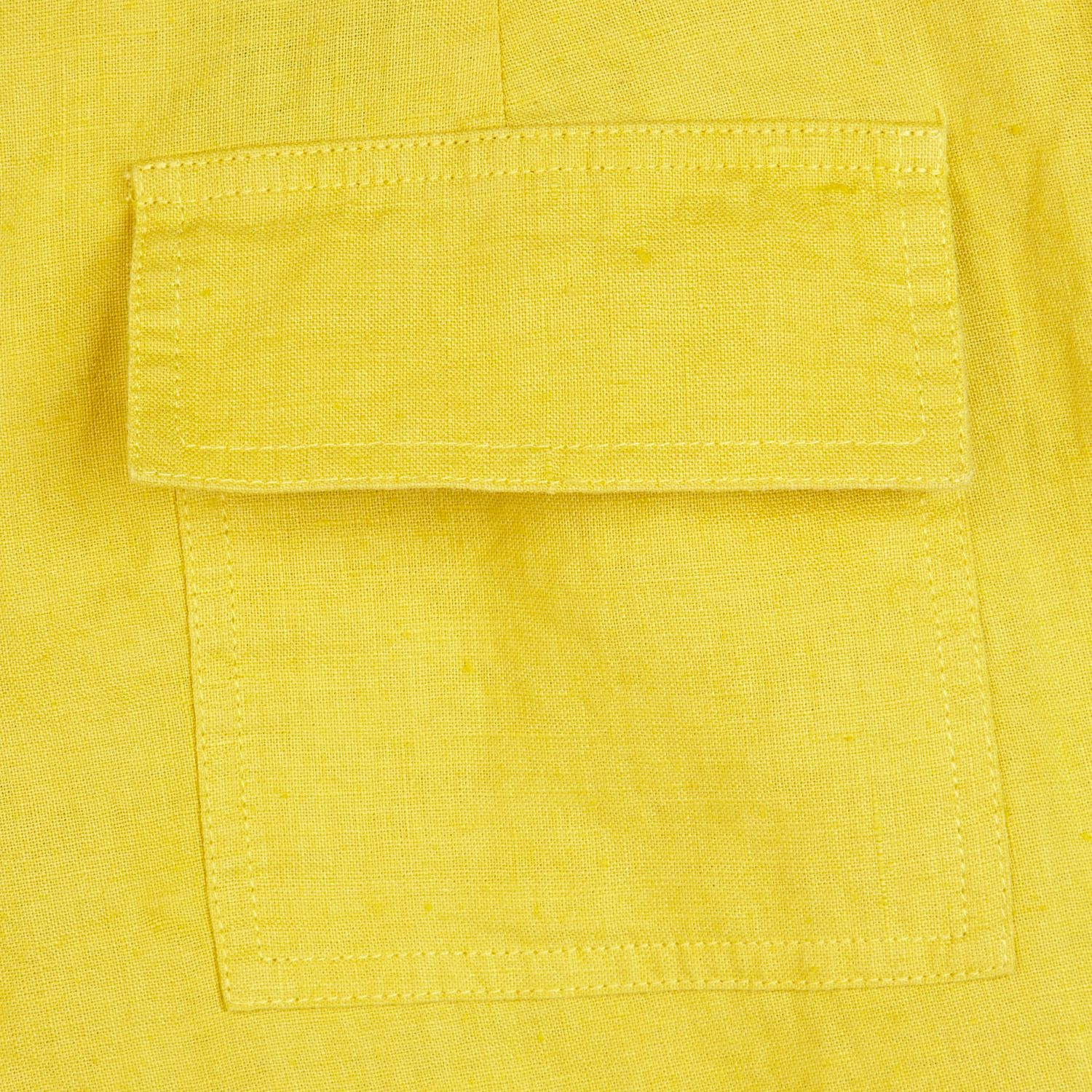 Lyst River Island Yellow Linen Long Rolled Up Shorts In
