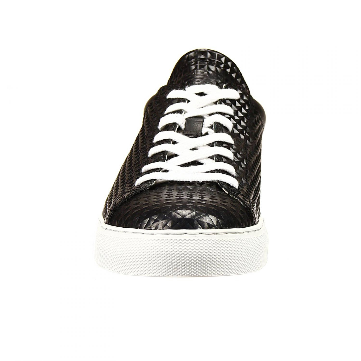 giorgio armani shoes sneakers in patent with 3d prin in