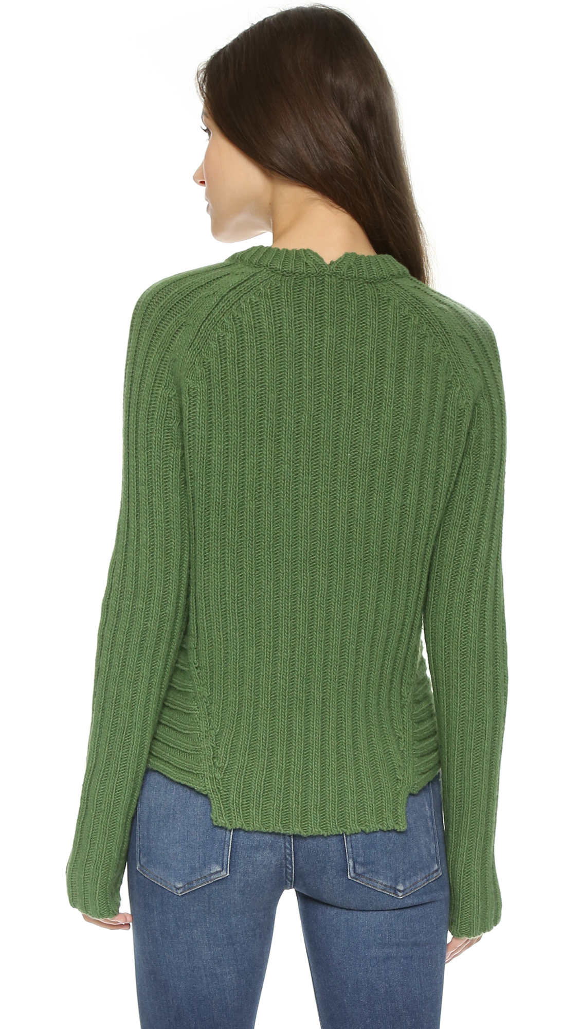 Marc by marc jacobs Ribbed Sweater - Dark Ocean in Green | Lyst